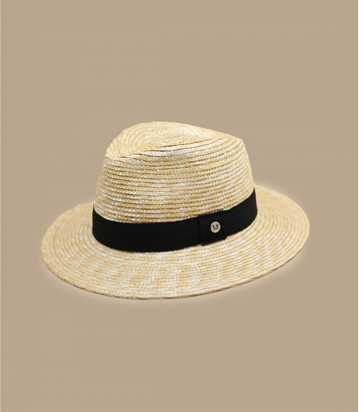 straw hat black ribbon