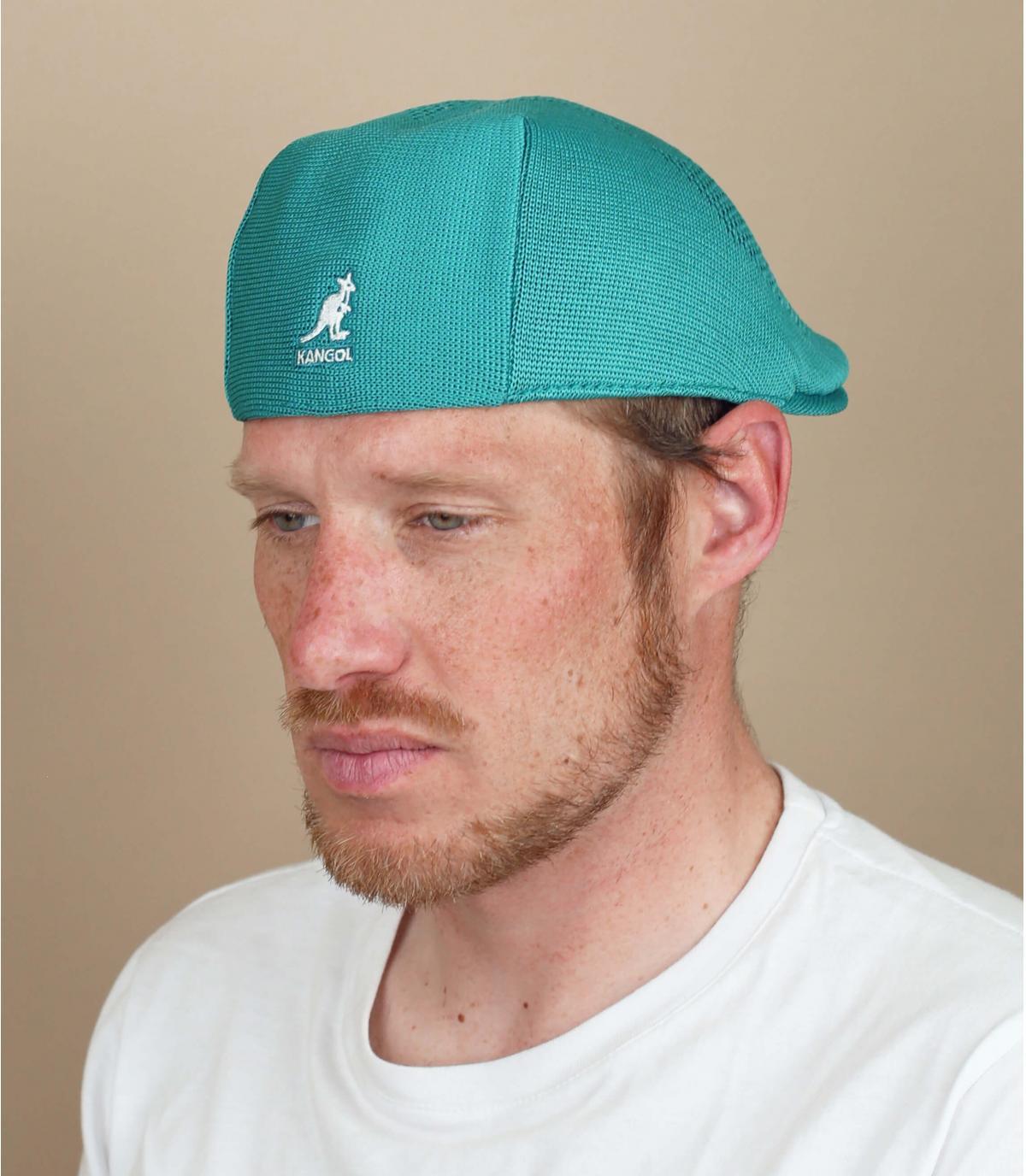 blue flat cap Kangol
