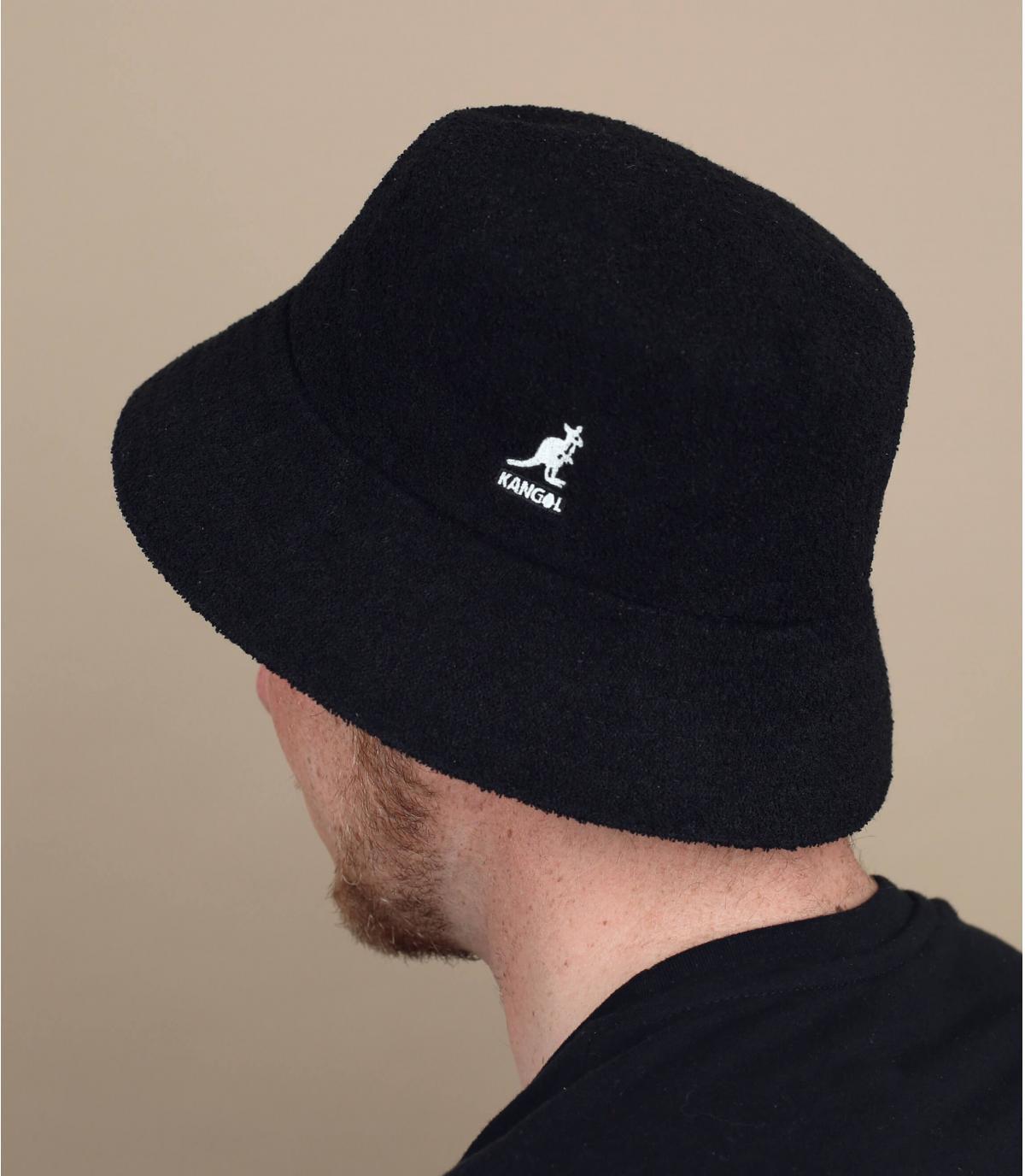 Black Kangol Bermuda bucket hat
