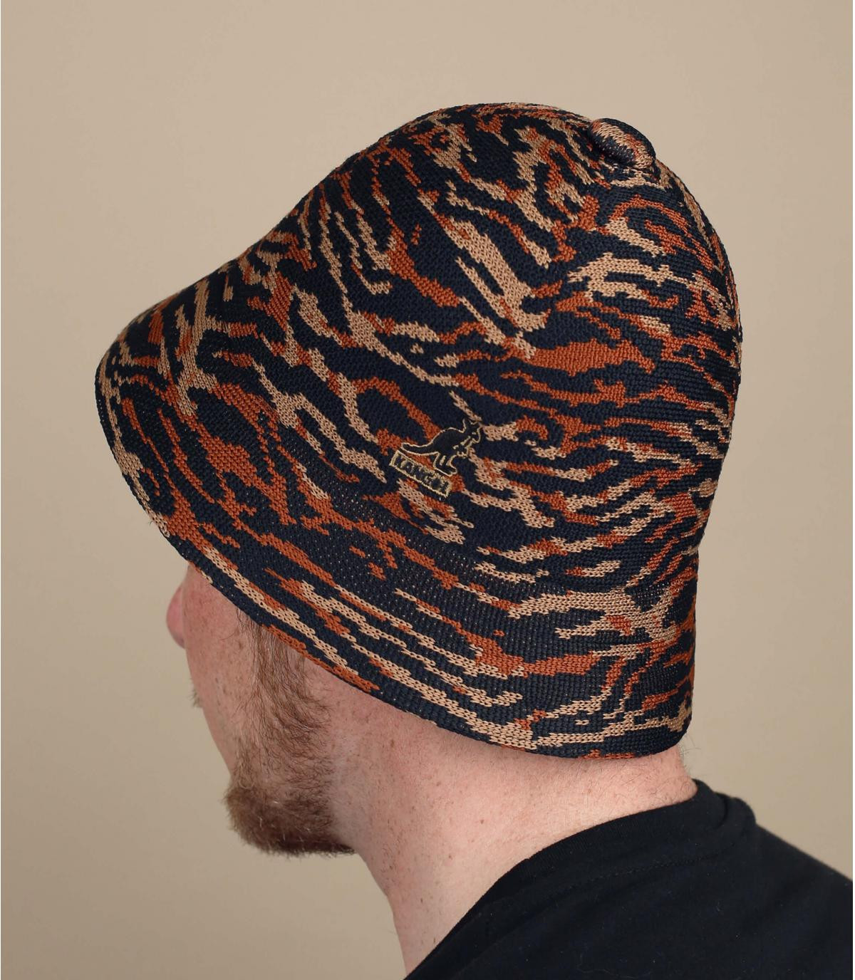 Tiger jacquard Kangol bucket hat