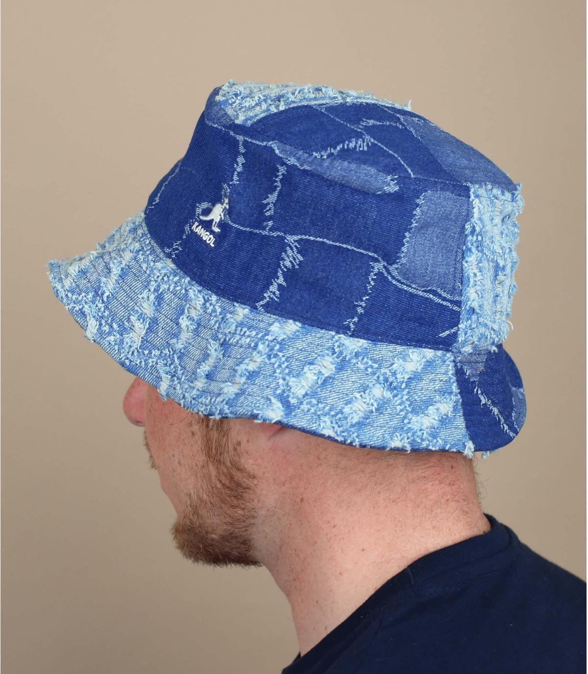 Kangol denim patchwork bucket hat