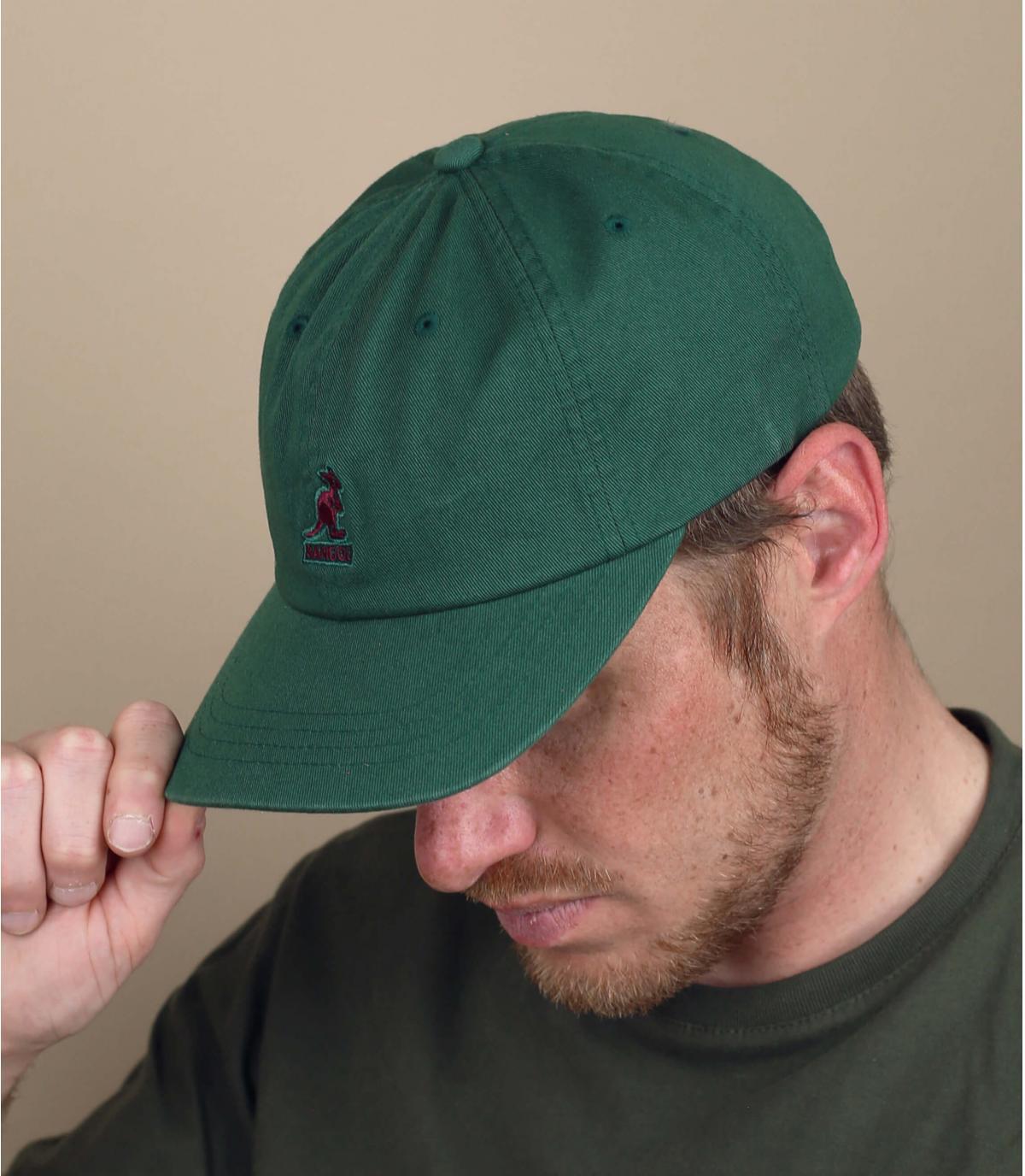 Green Kangol cap