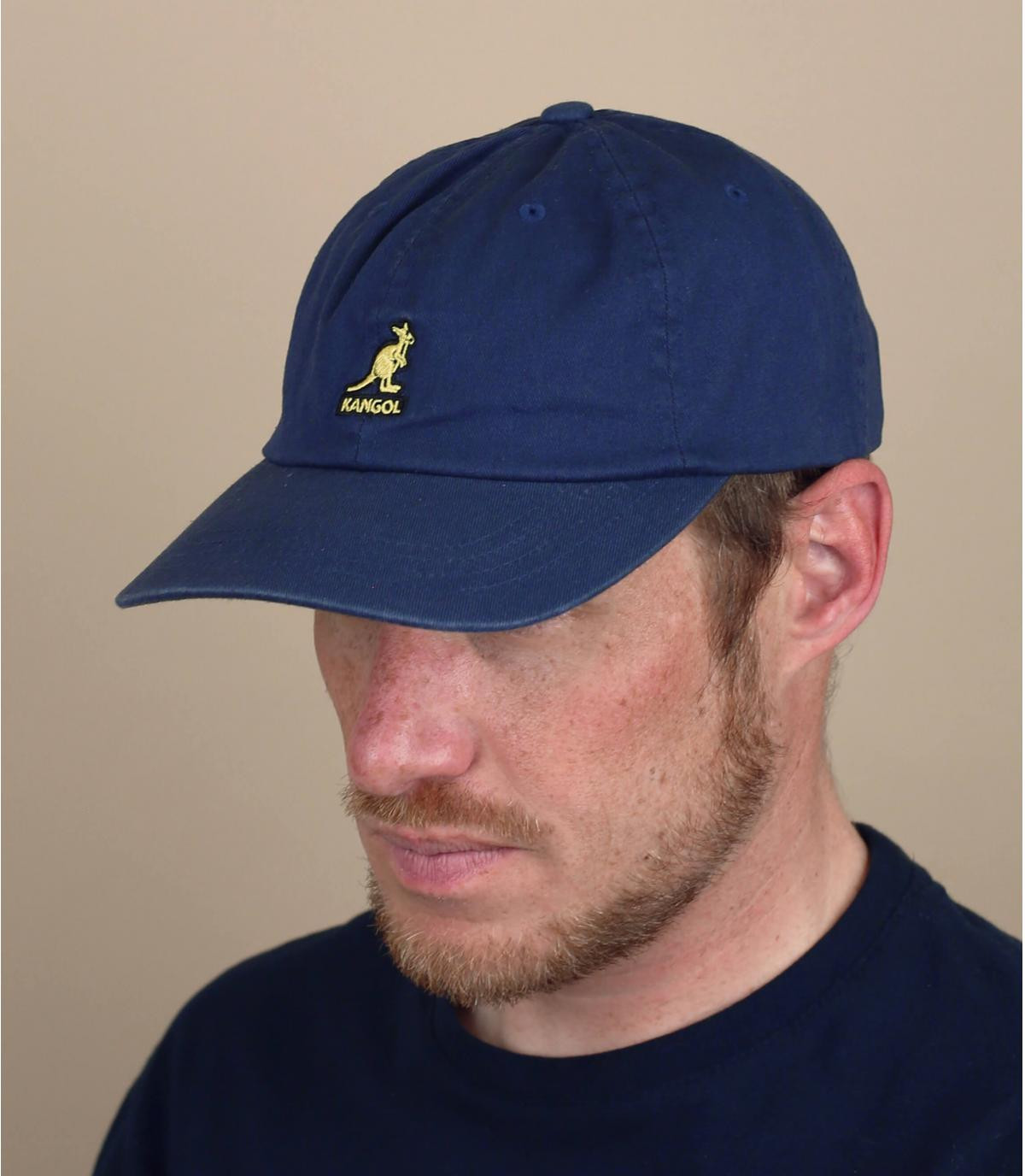 navy blue Kangol cap
