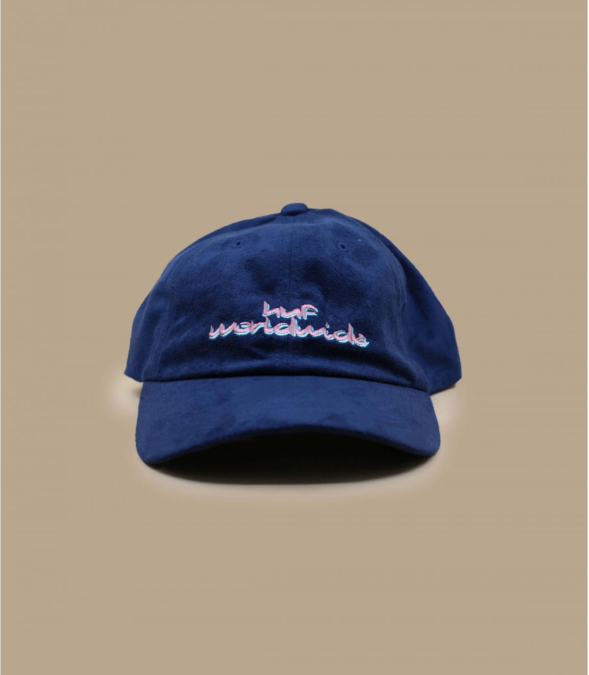 Blue suede cap Huf