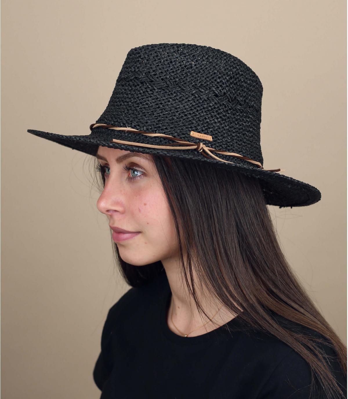 Black straw hat Barts