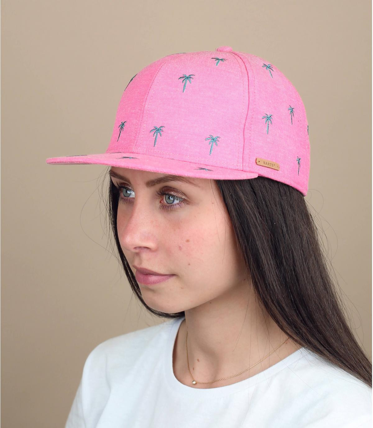 pink palm tree cap children
