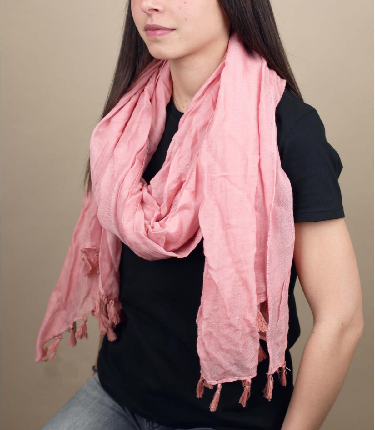 Pink scarf viscose