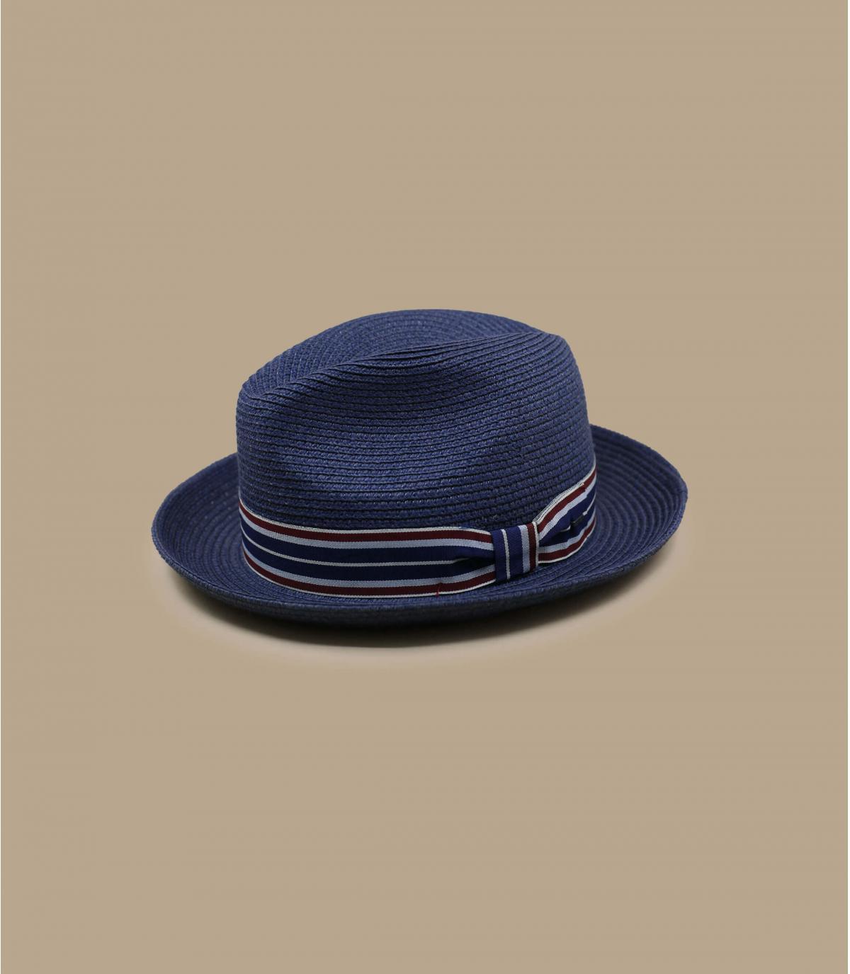 navy blue straw hat Bailey