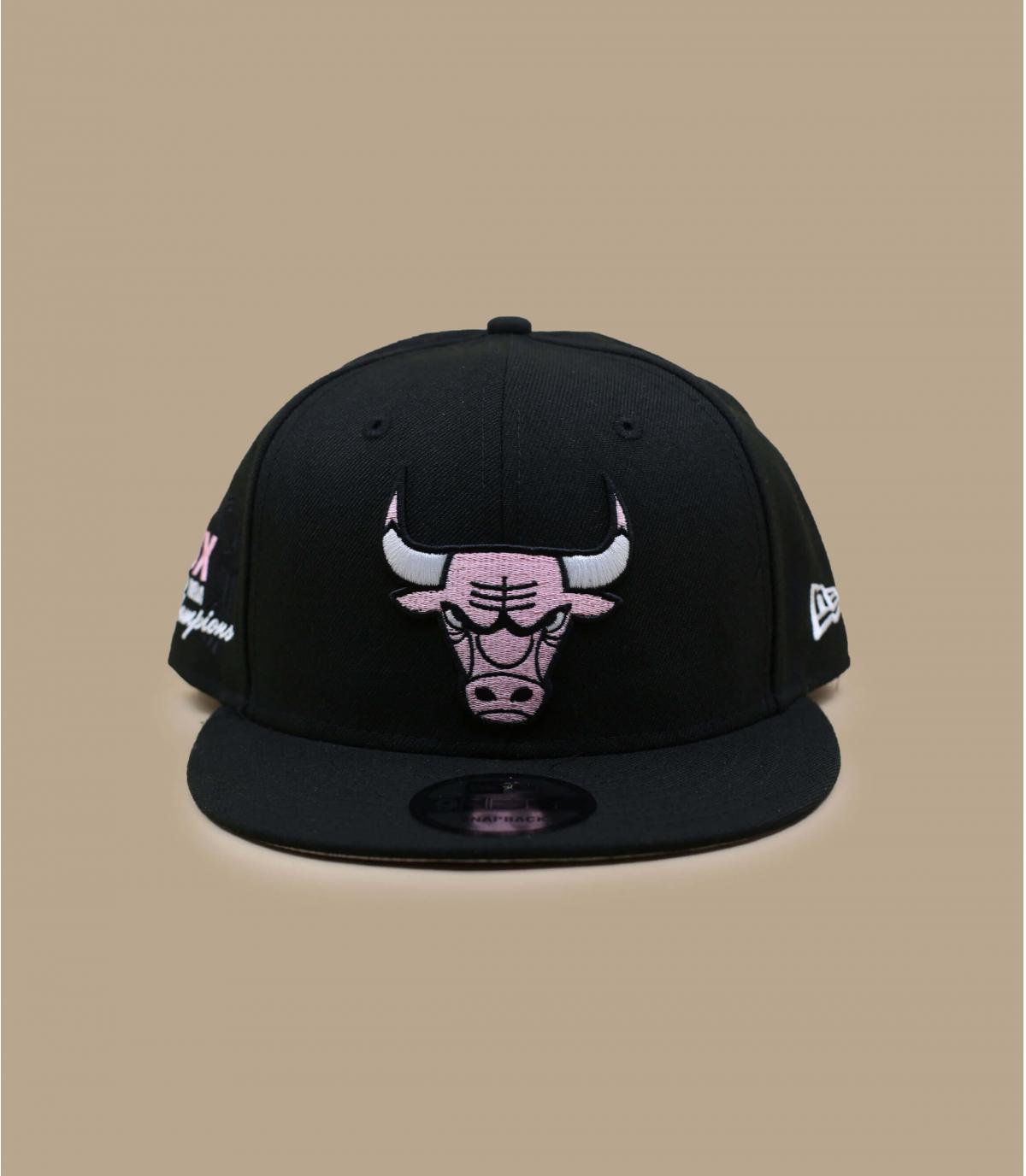 Bulls cap pink paisley