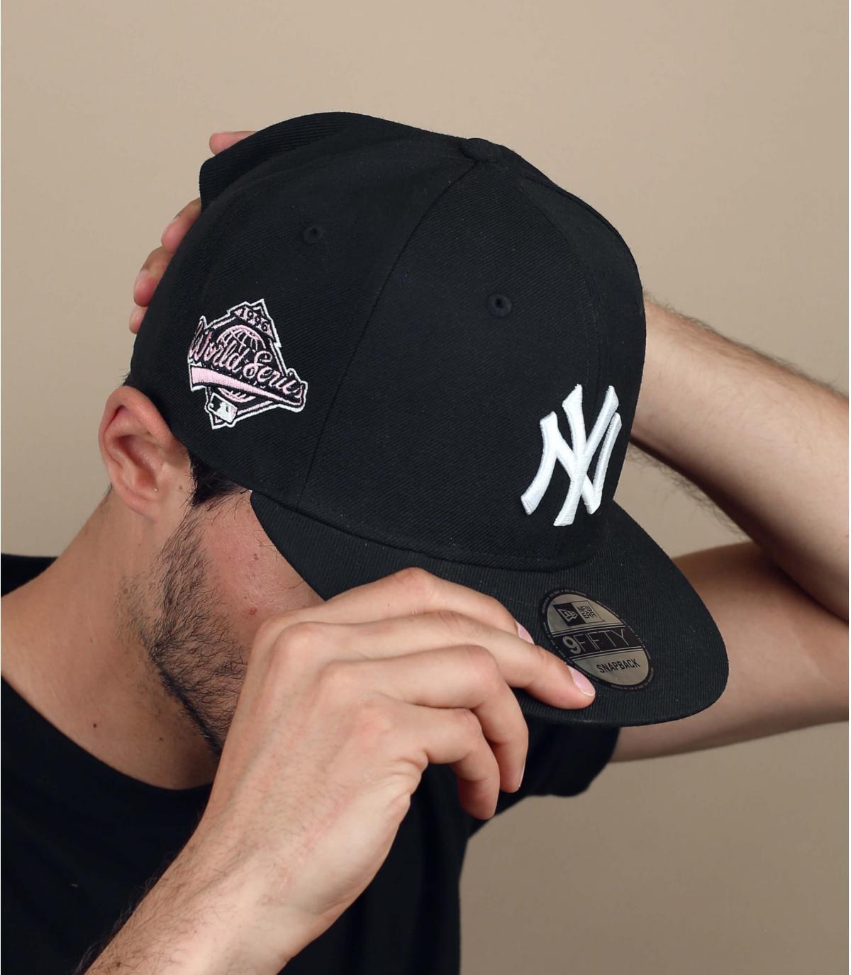 NY cap pink paisley