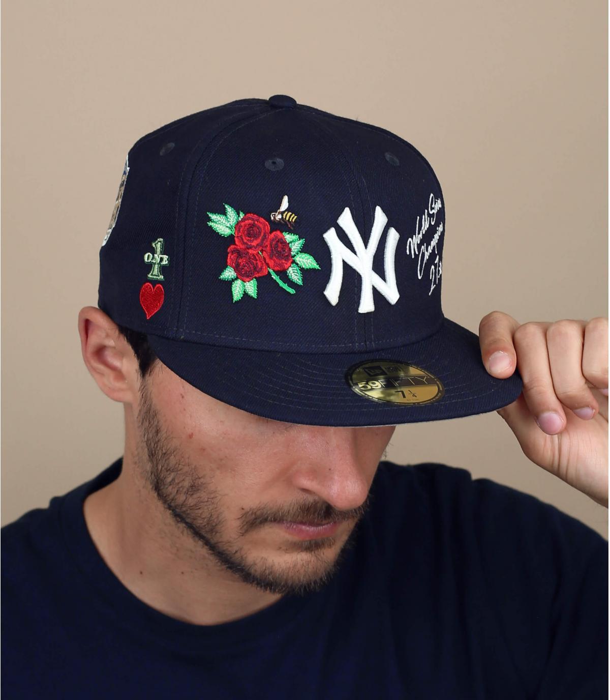 NY cap patches