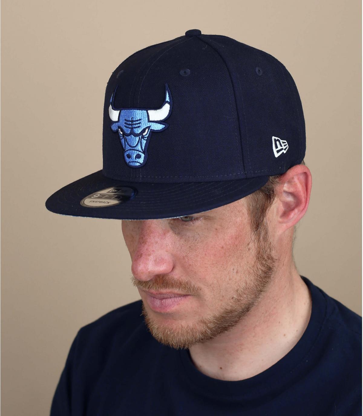Blue Chicago Bulls cap paisley