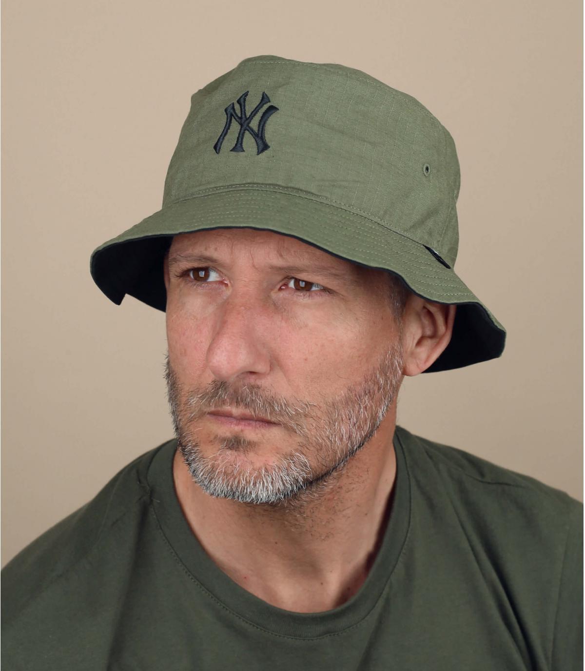 green NY bucket hat