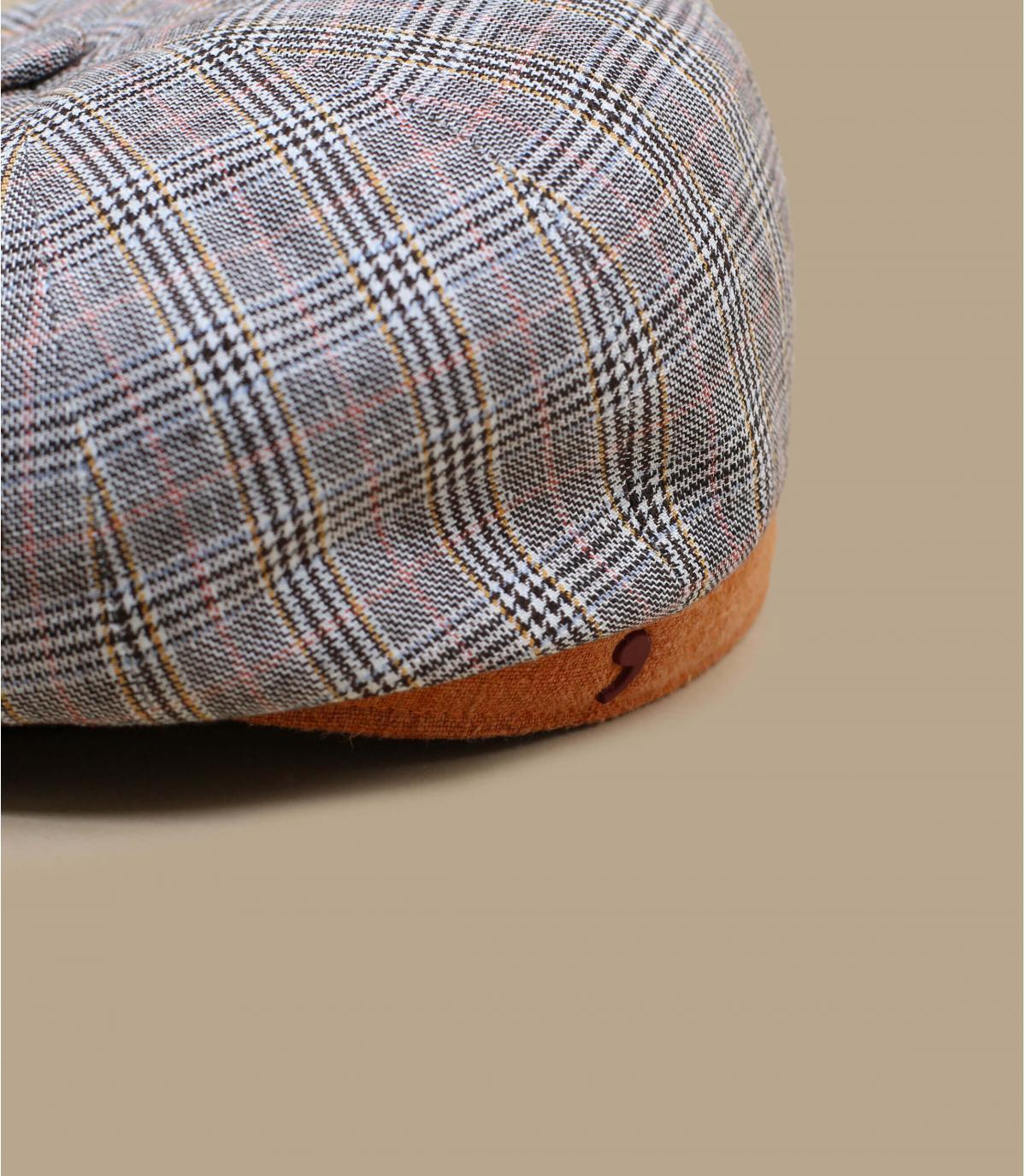 Grey newsboy cap
