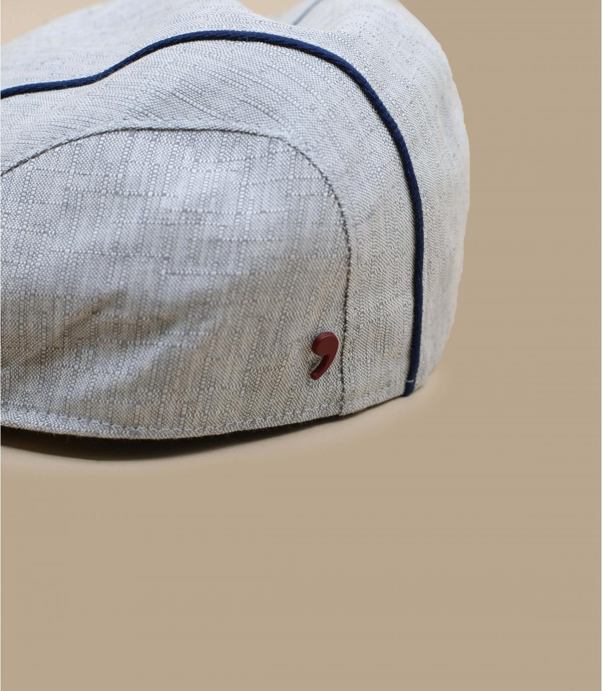 Grey flat cap stripe