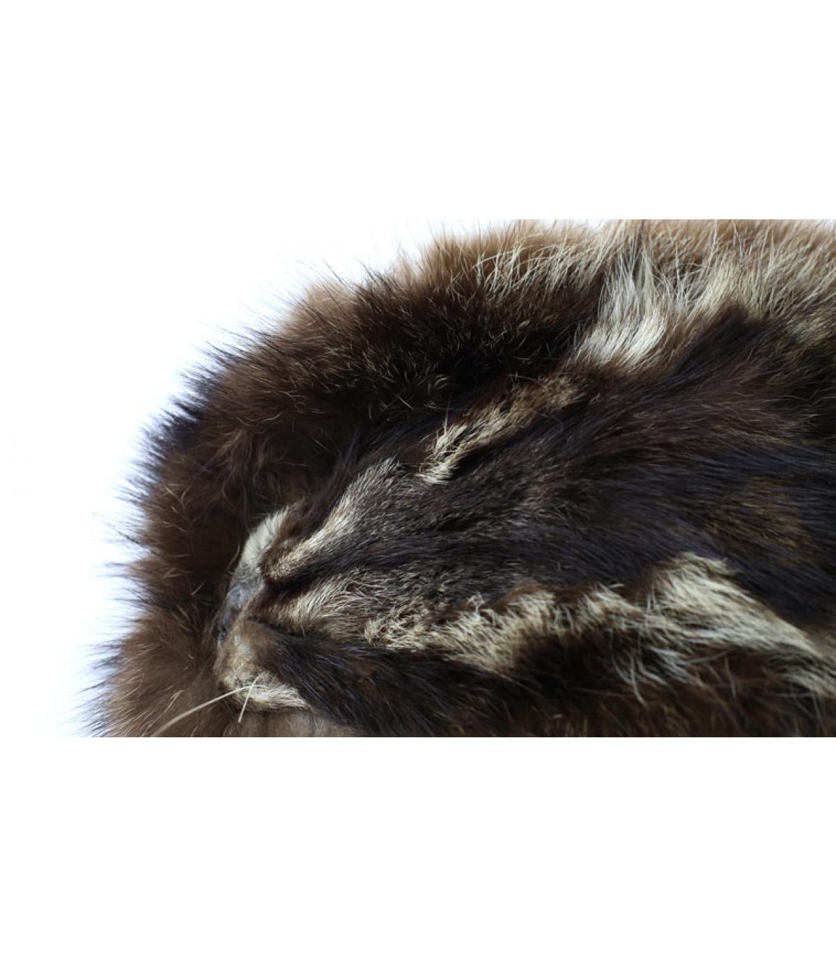 da2a33f08b1 Raccoon fur trapper hat - Davy raccoon trapper hat by Gena.