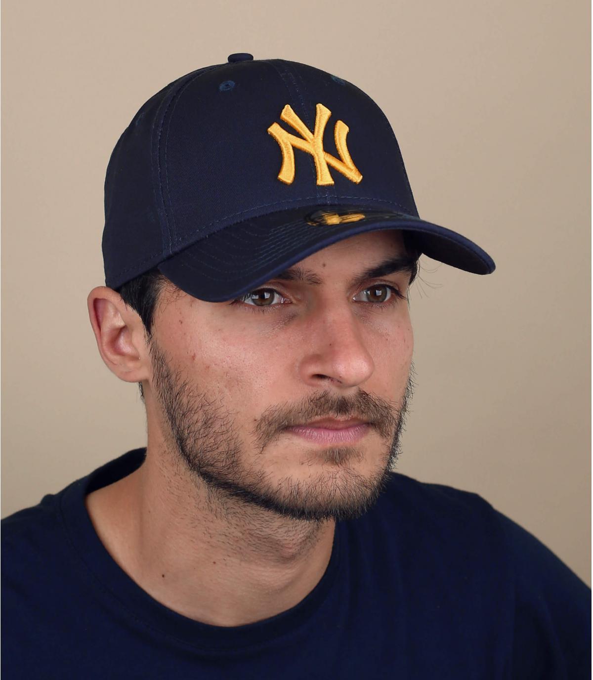 blue gold NY cap