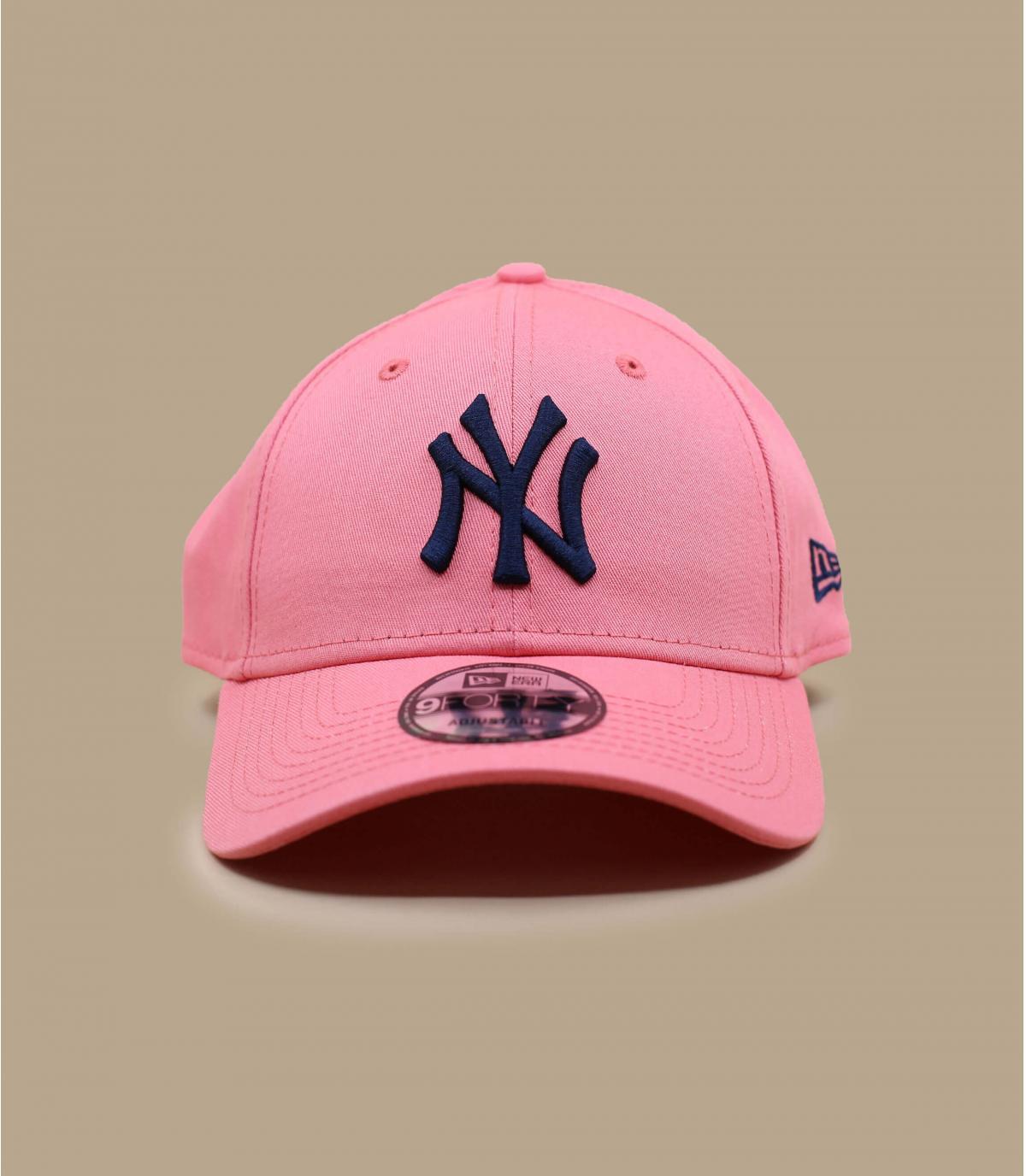 pink blue NY cap