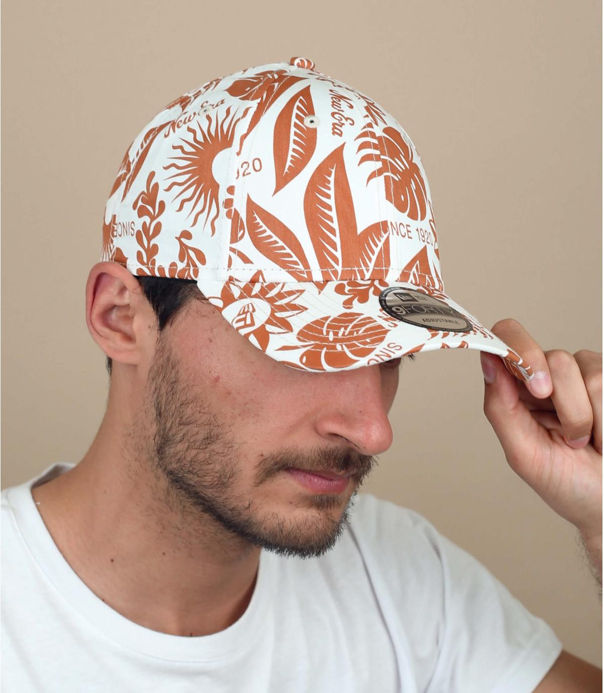 Floral printed cap