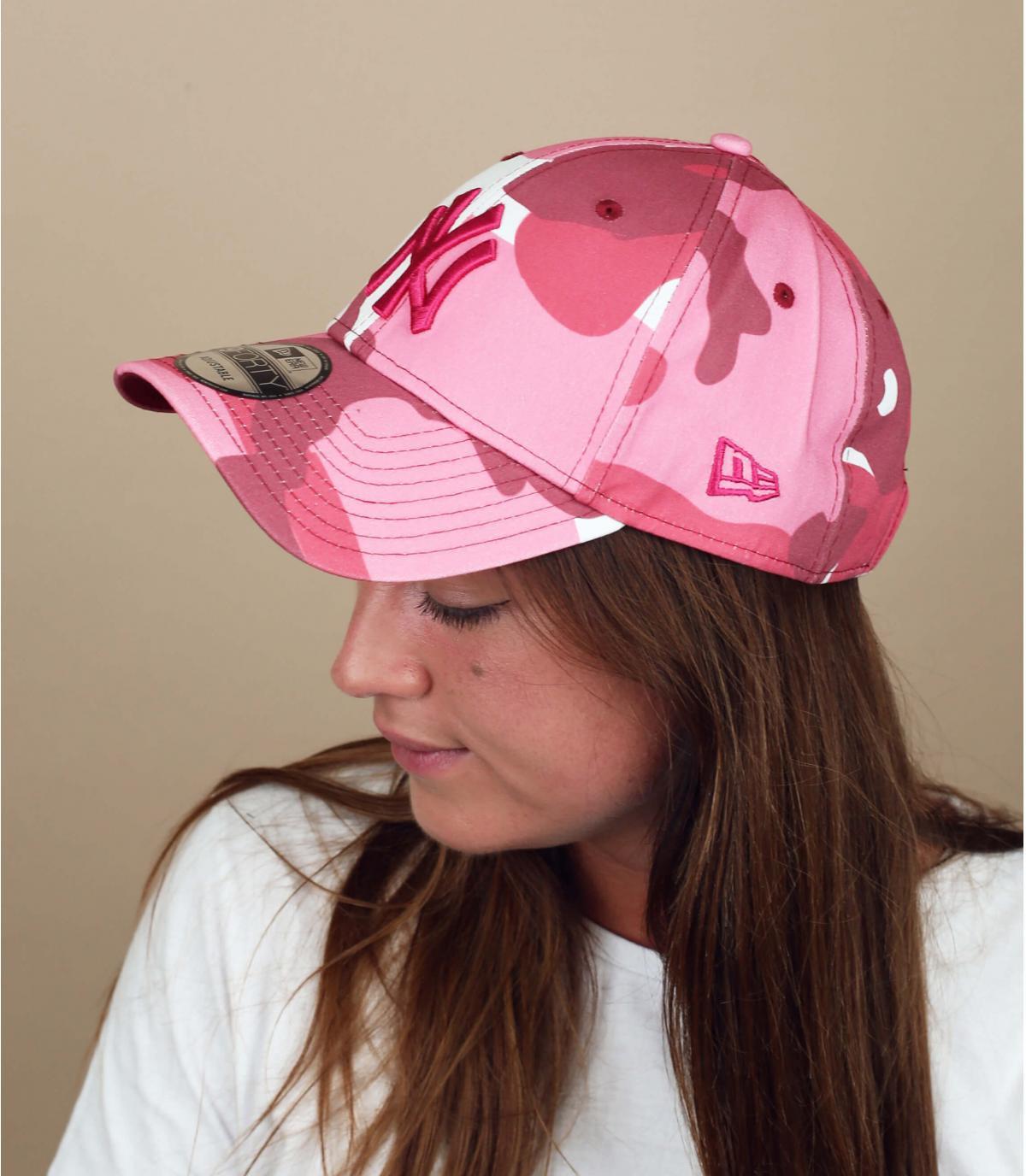 camo pink NY cap