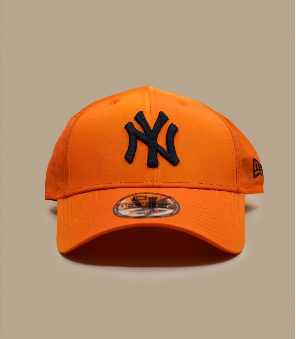 Iridescent orange NY cap
