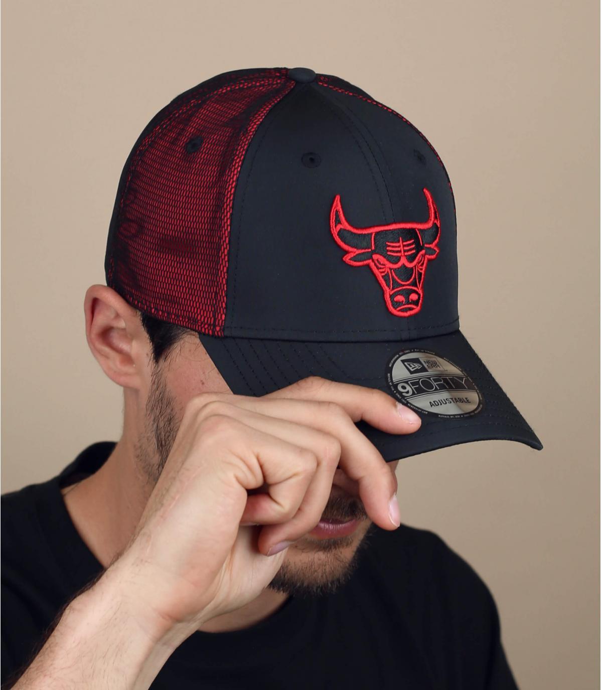 Black red Bulls cap