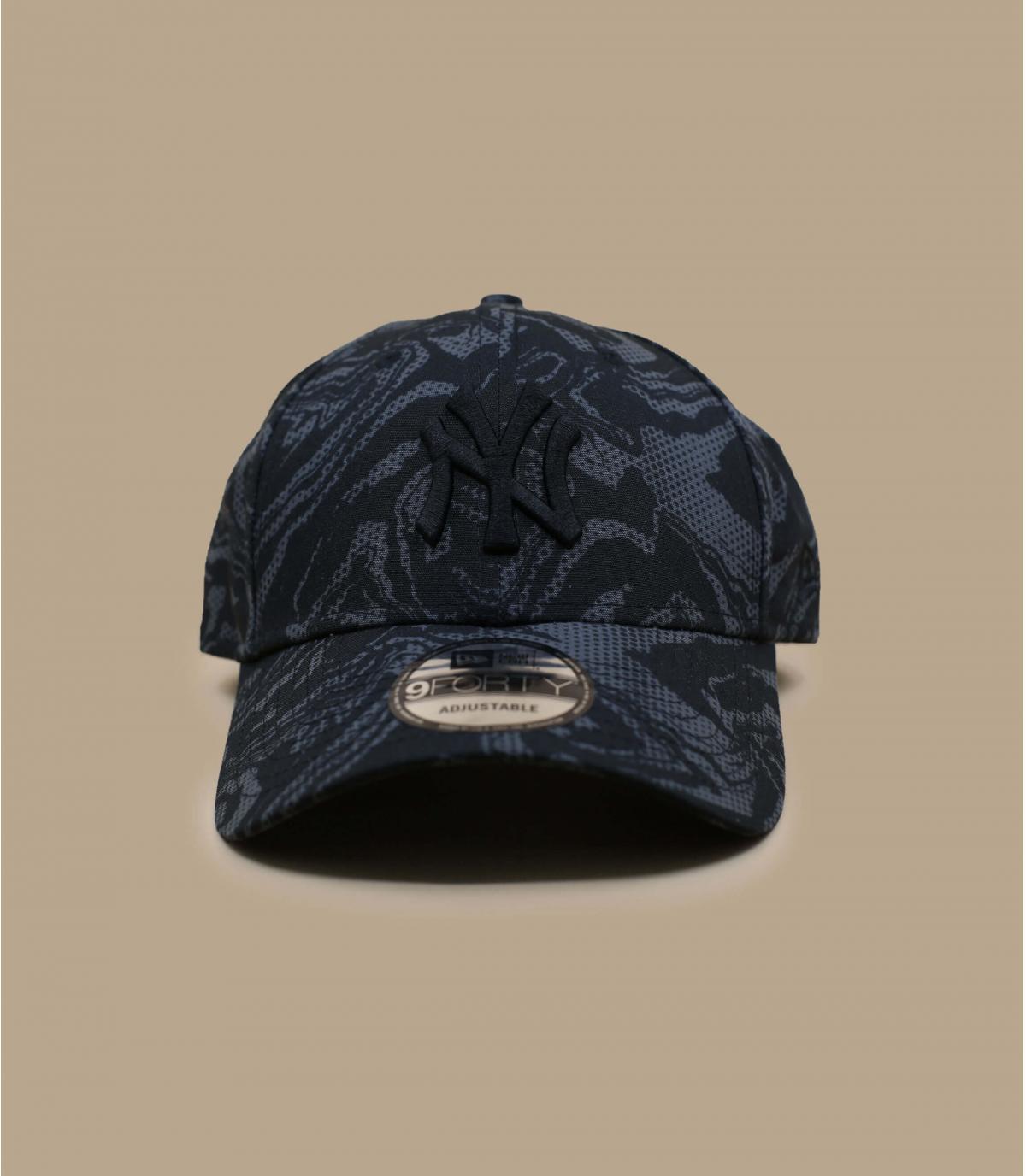 NY black camo cap