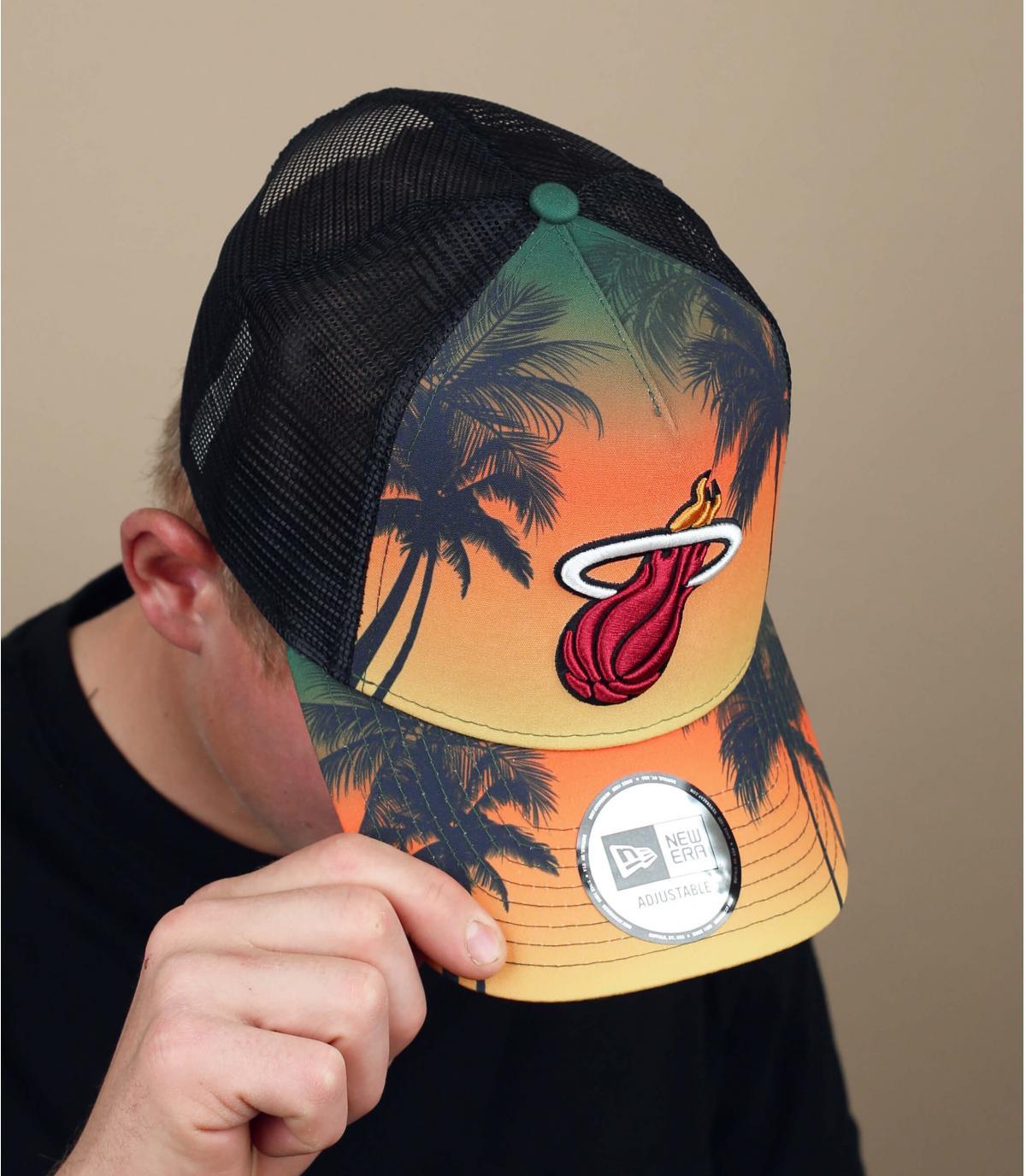 Trucker Miami Heats palm trees