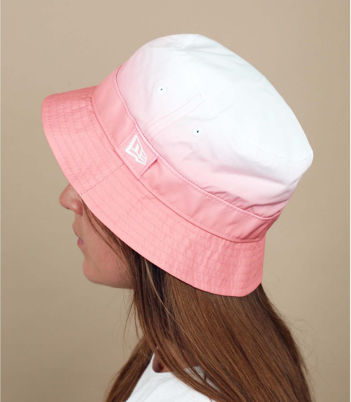 Pink gradient bucket hat New Era