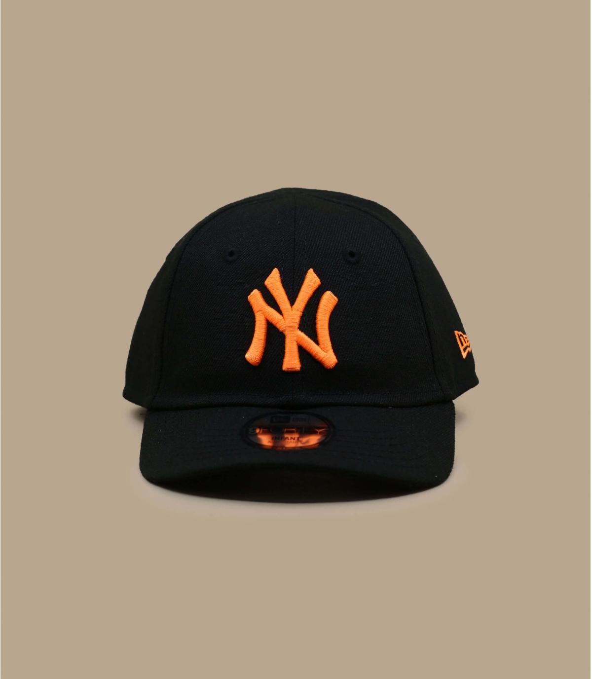 NY baby cap black orange
