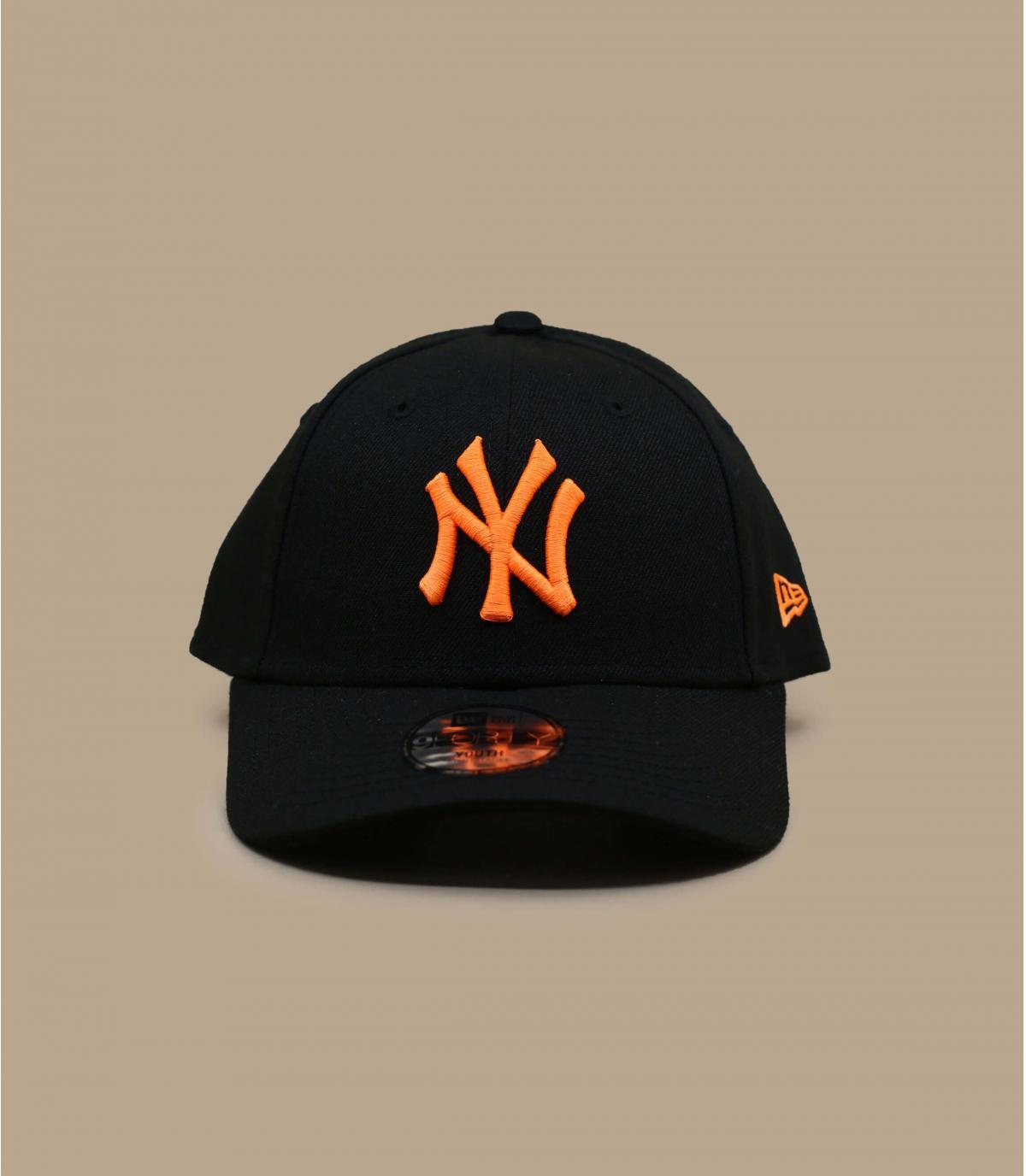 NY child cap black orange