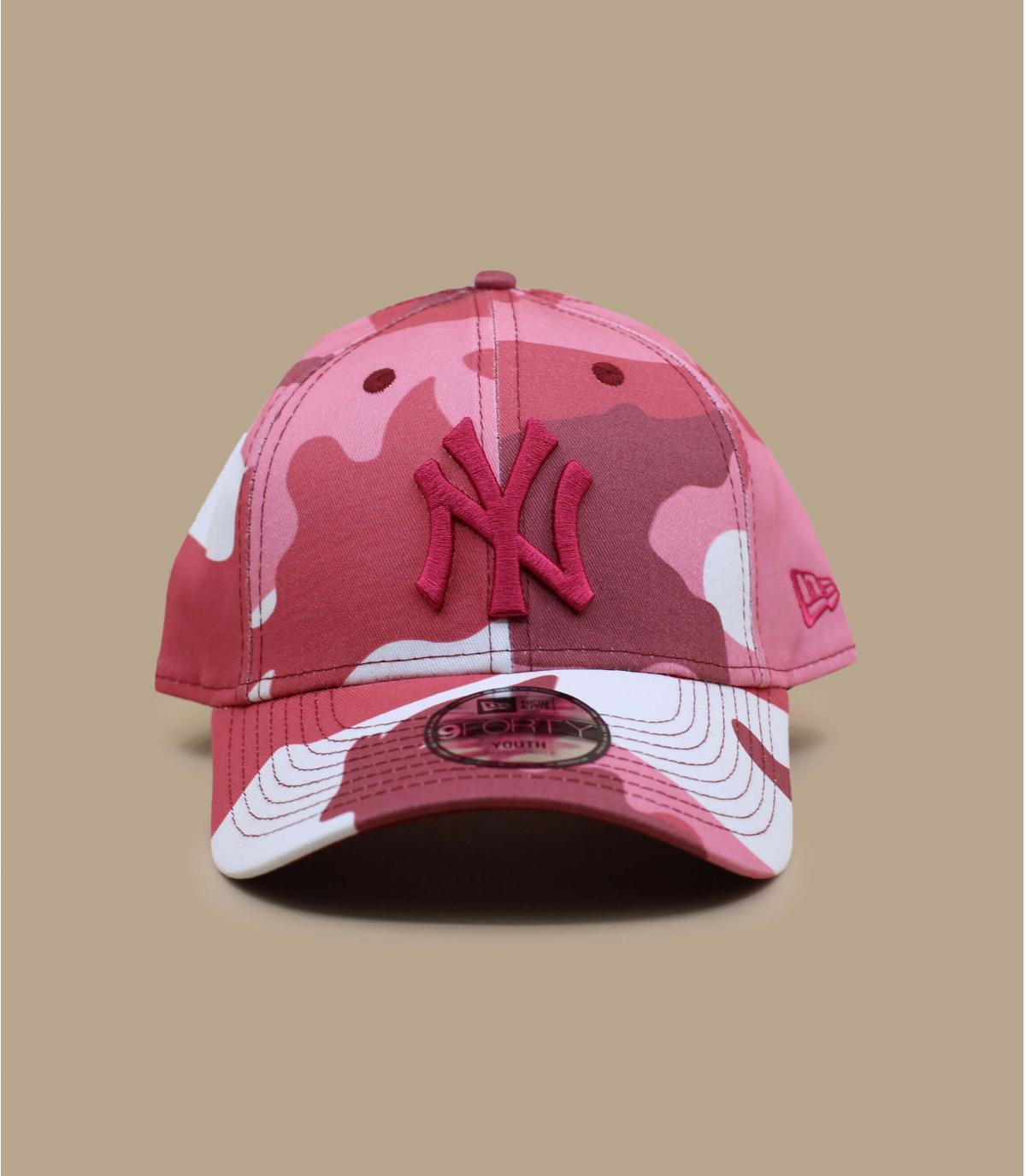 Beige pink camo child cap