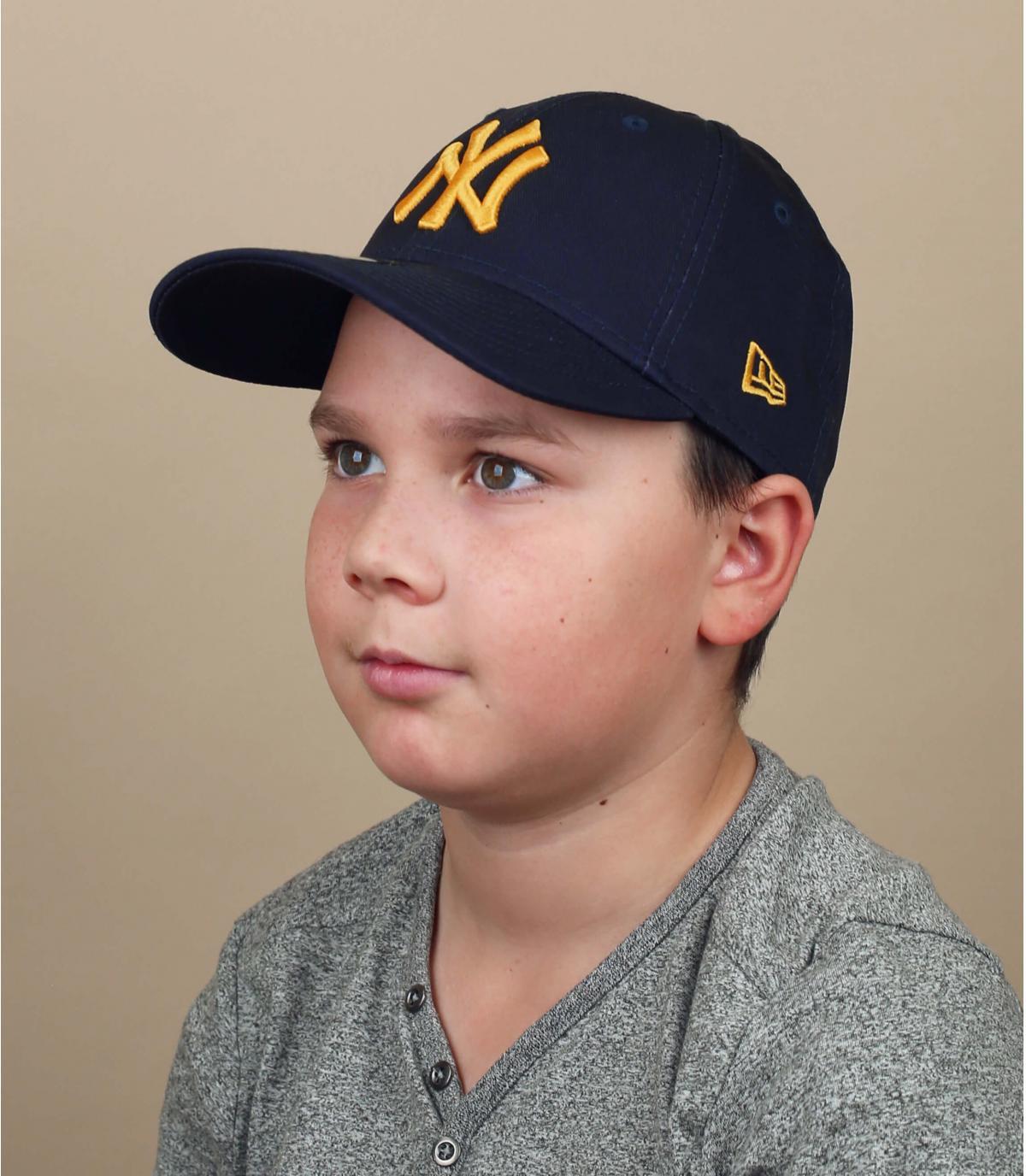 navy blue NY child cap