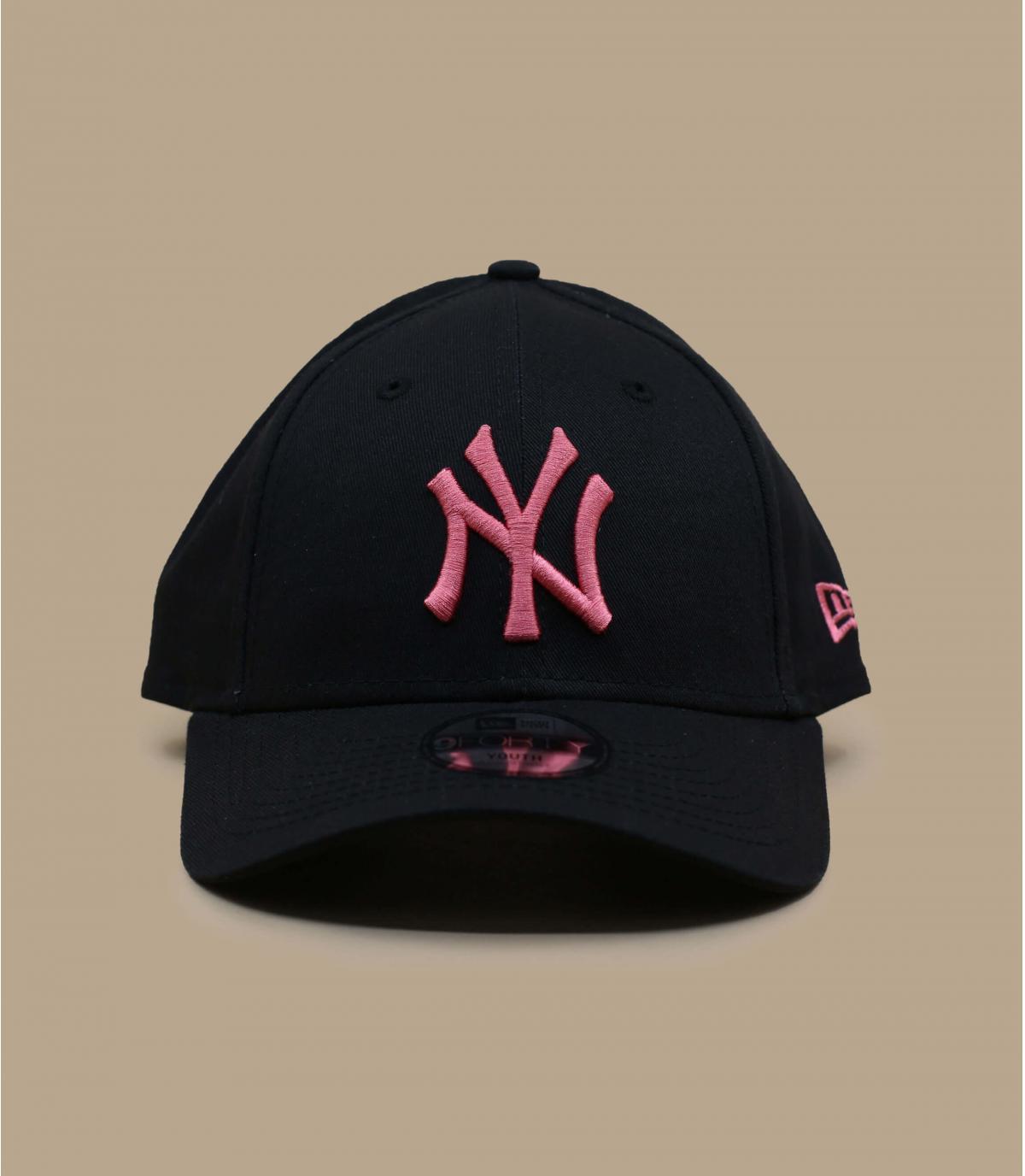 Black pink child cap