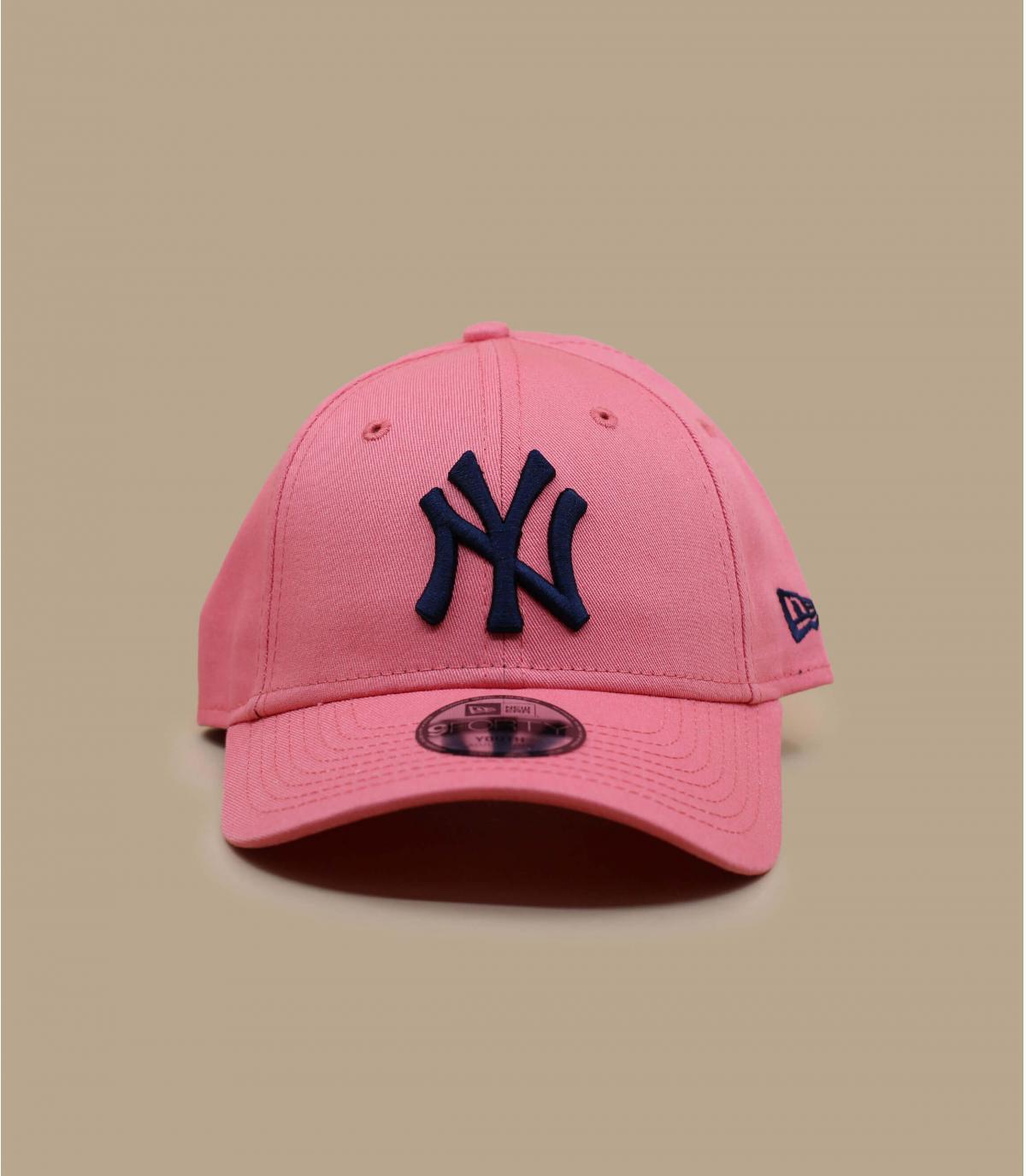 pink NY cap kid