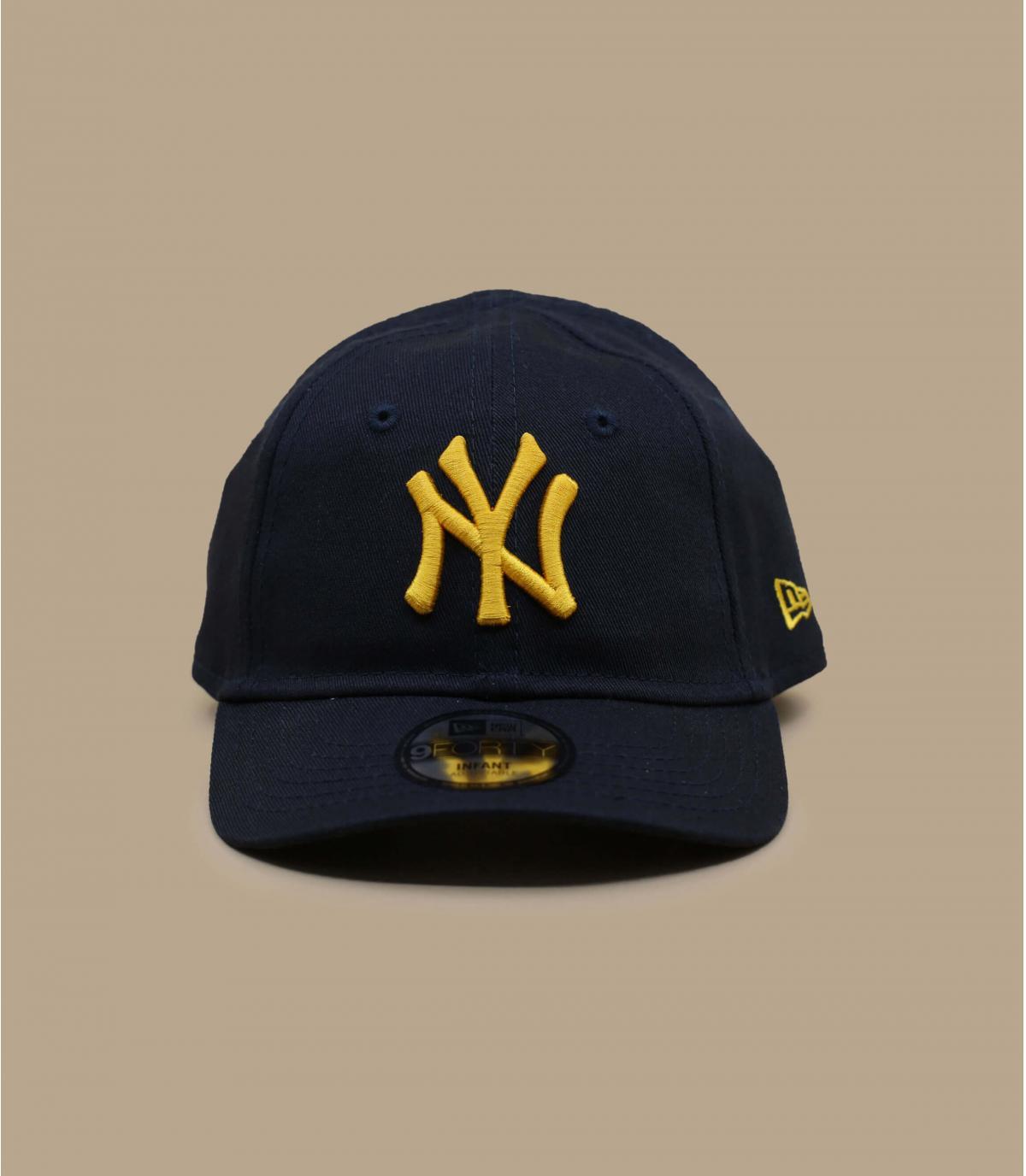 navy blue NY baby cap