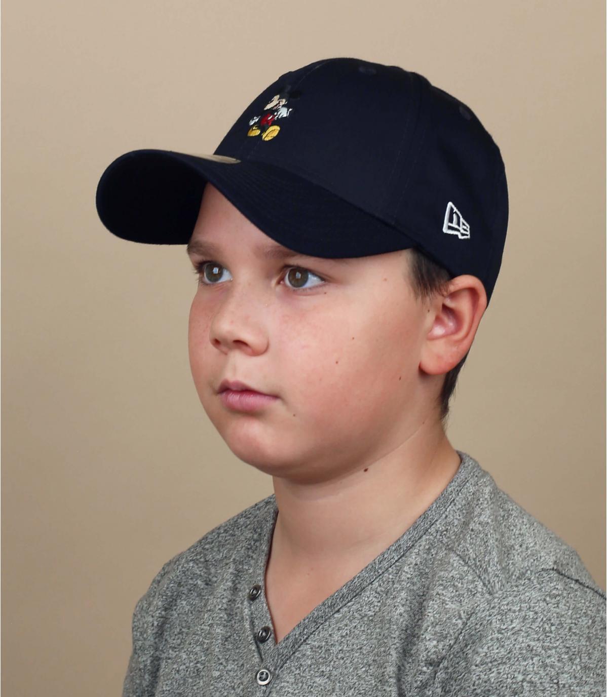 navy blue Mickey cap