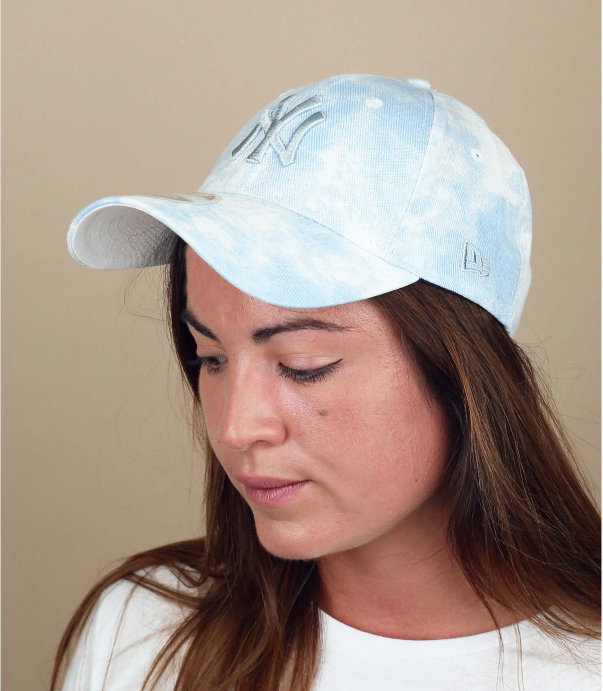 washed denim NY cap