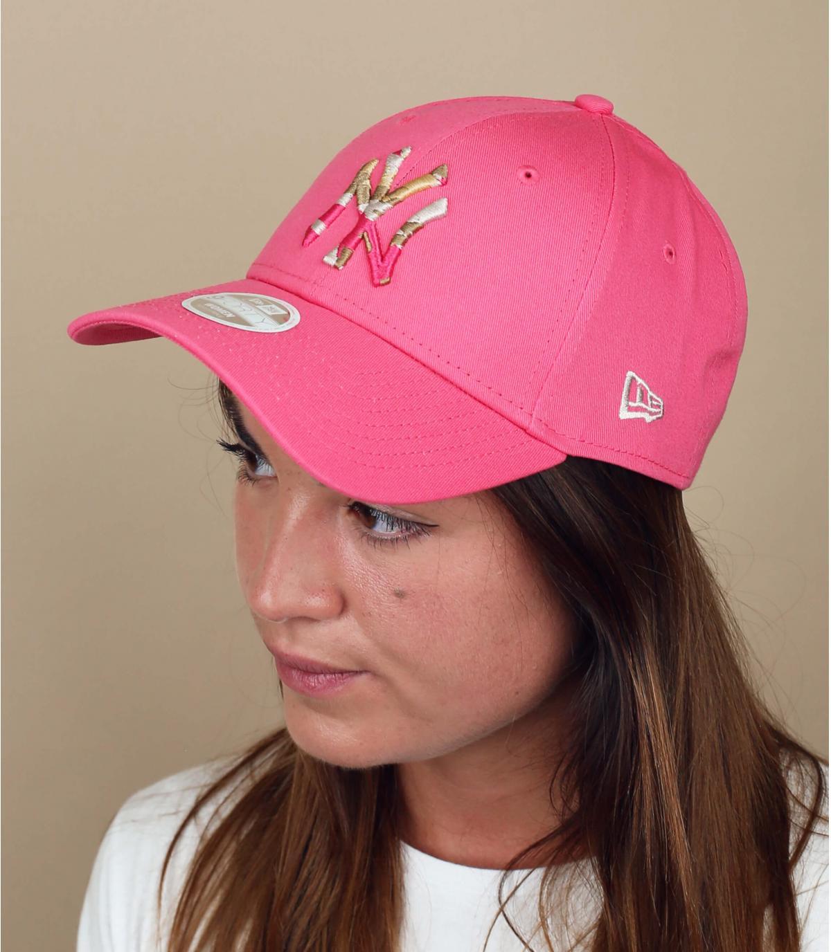 pink NY women cap