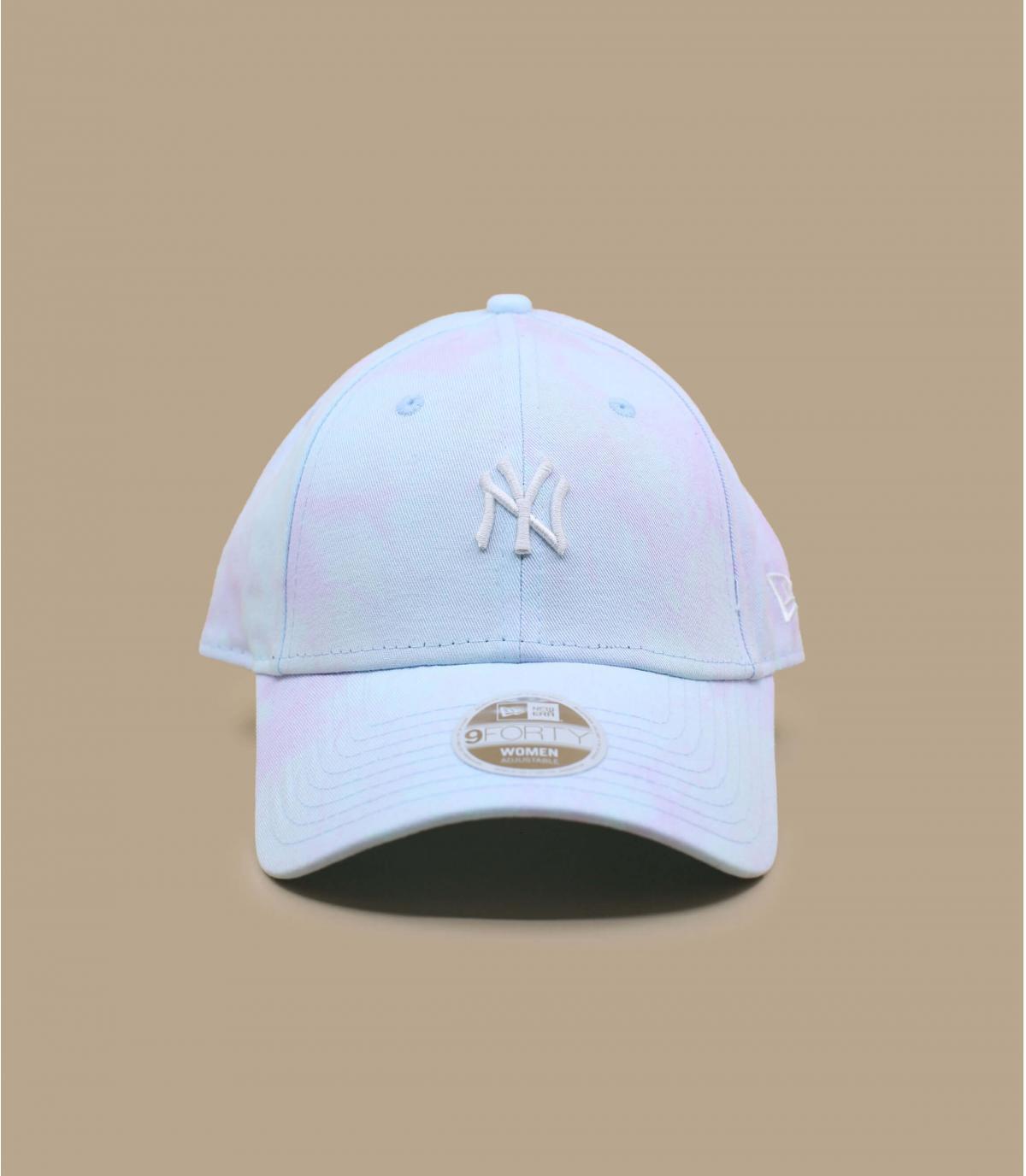 blue tie dye cap