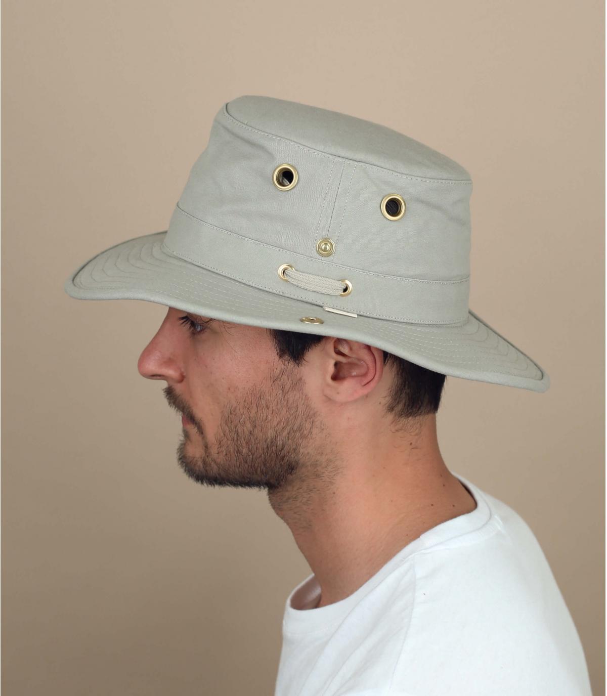 Beige TilleyT3 bucket hat