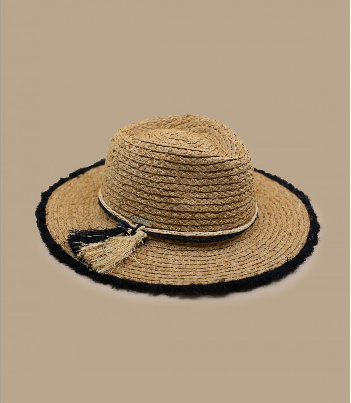 fringed straw hat