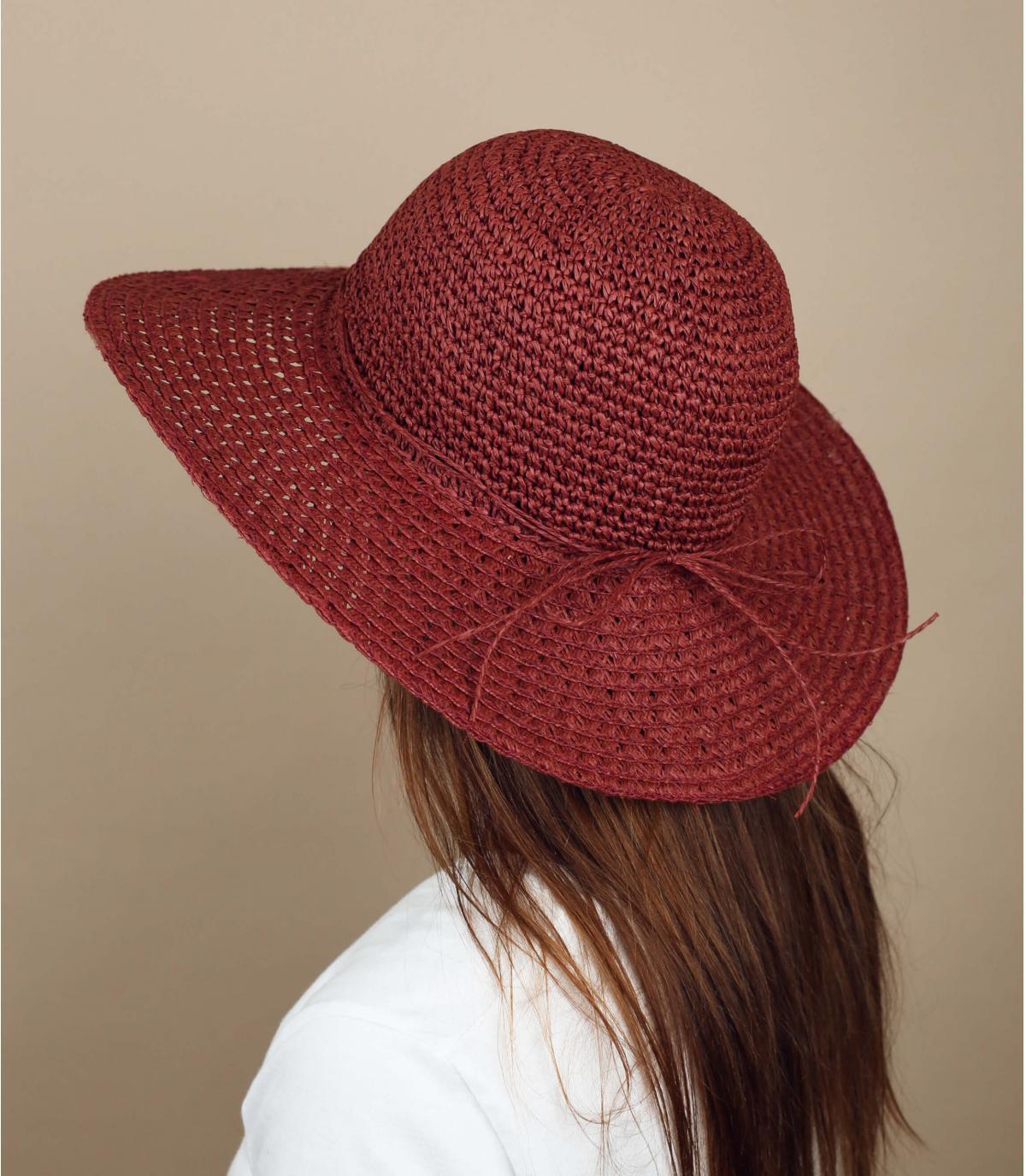 blue straw wide brimmed hat