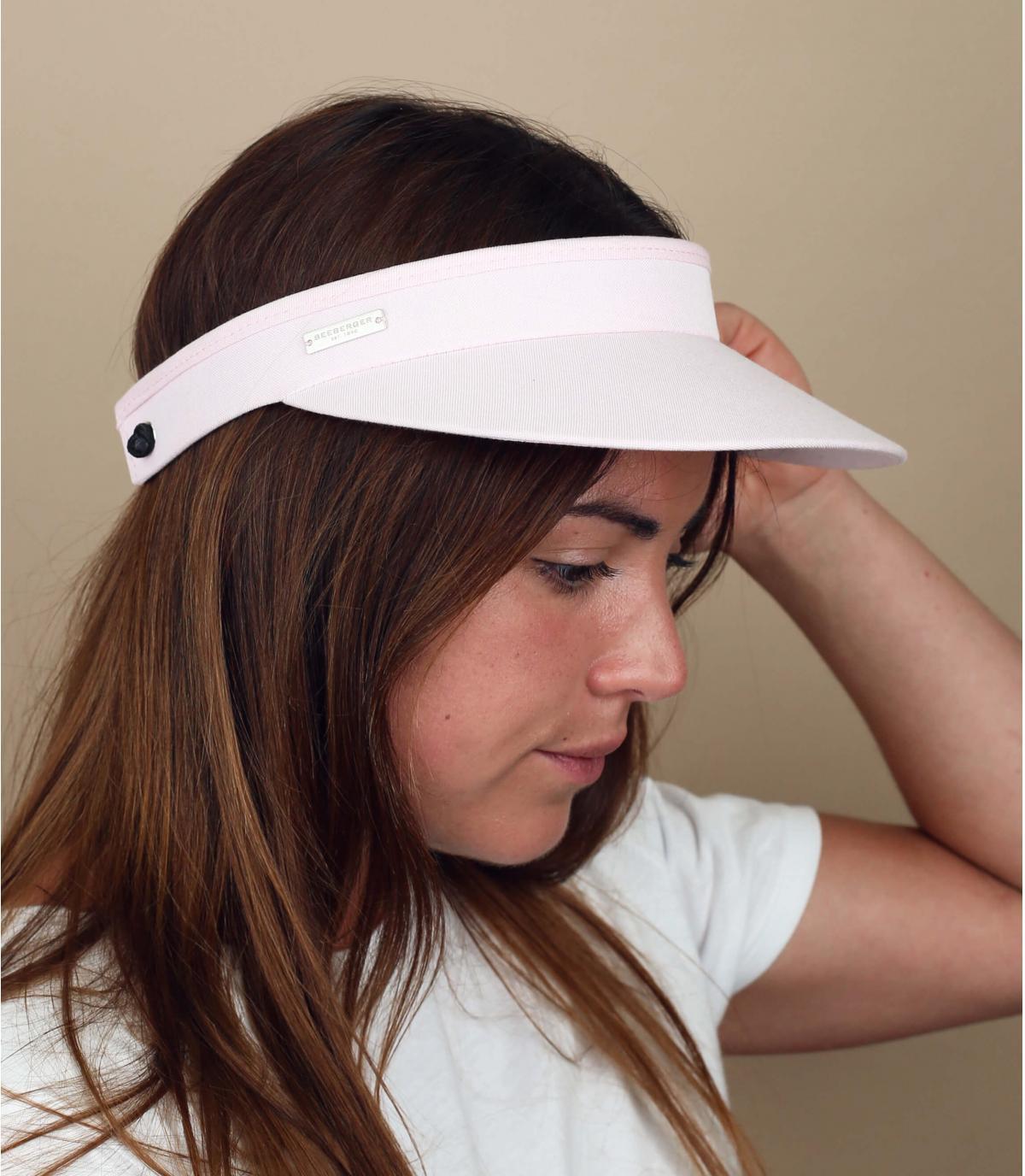 pink visor cotton
