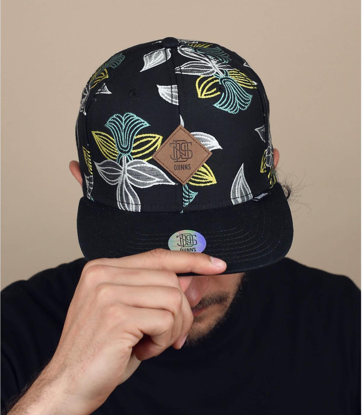 Black flowers cap Djinns