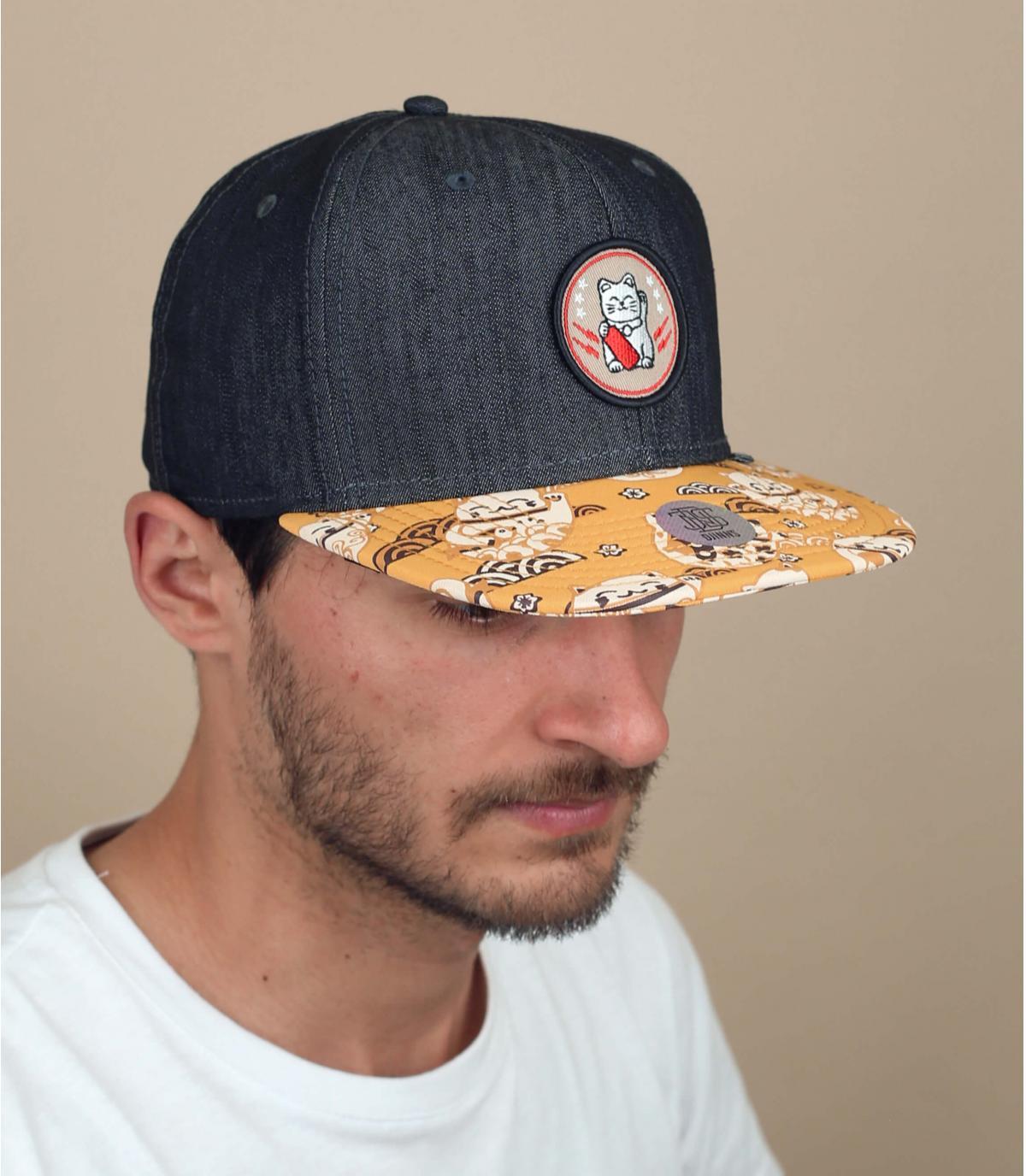Djinns cat print cap