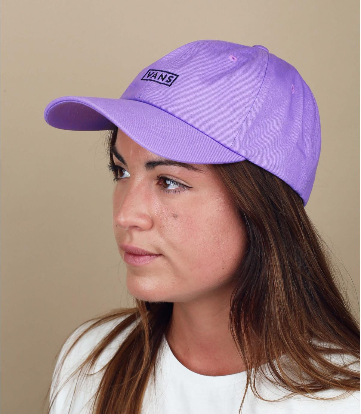 Purple Vans cap woman