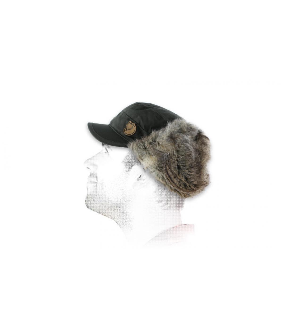 Fjallraven grey trapper hat