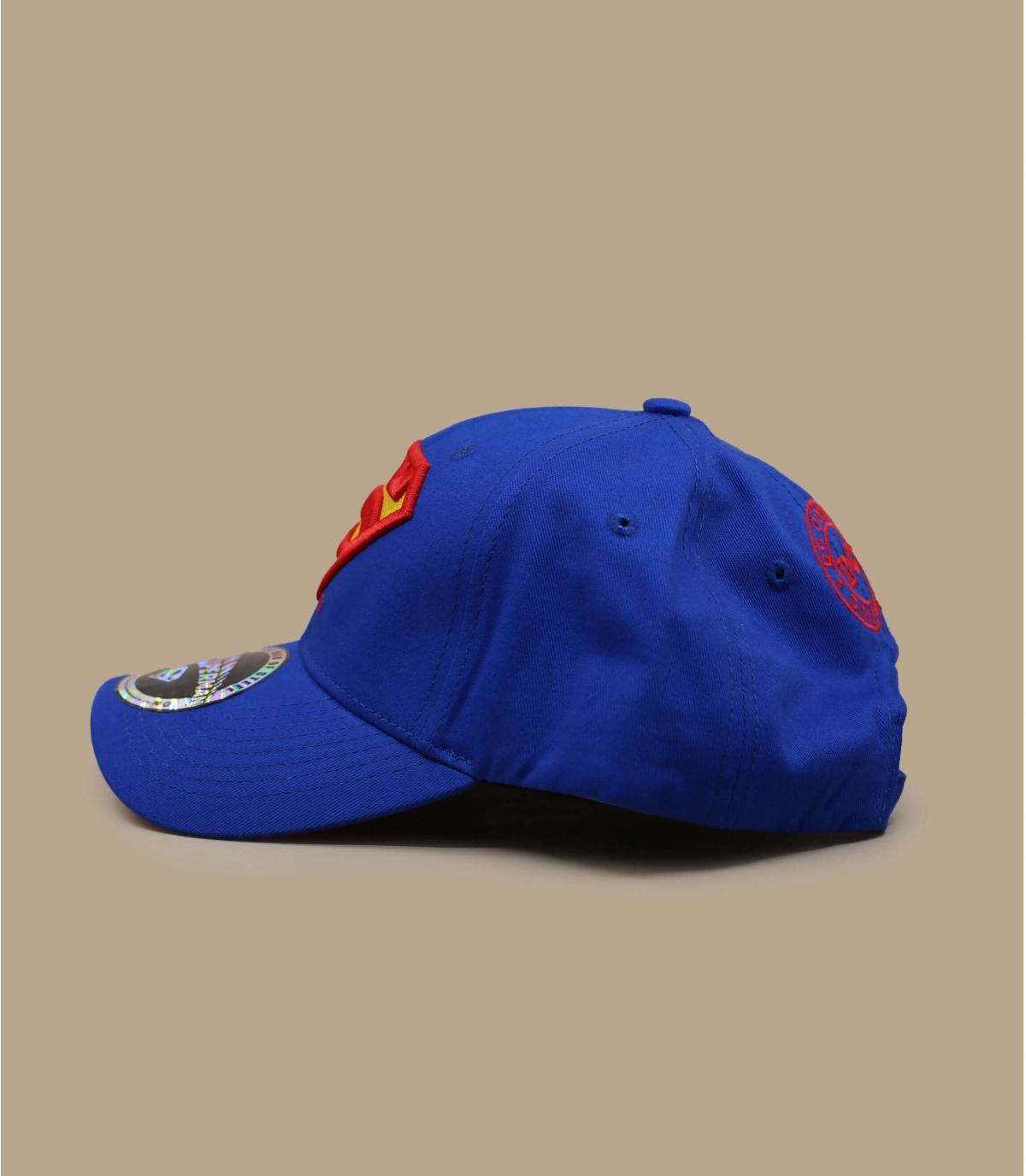 blue Superman cap