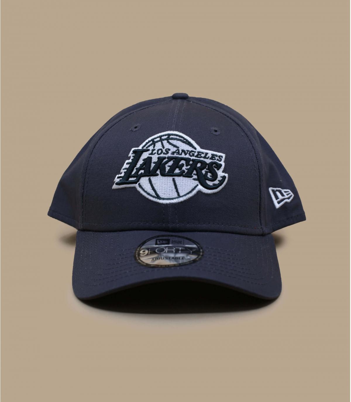 grey Lakers cap